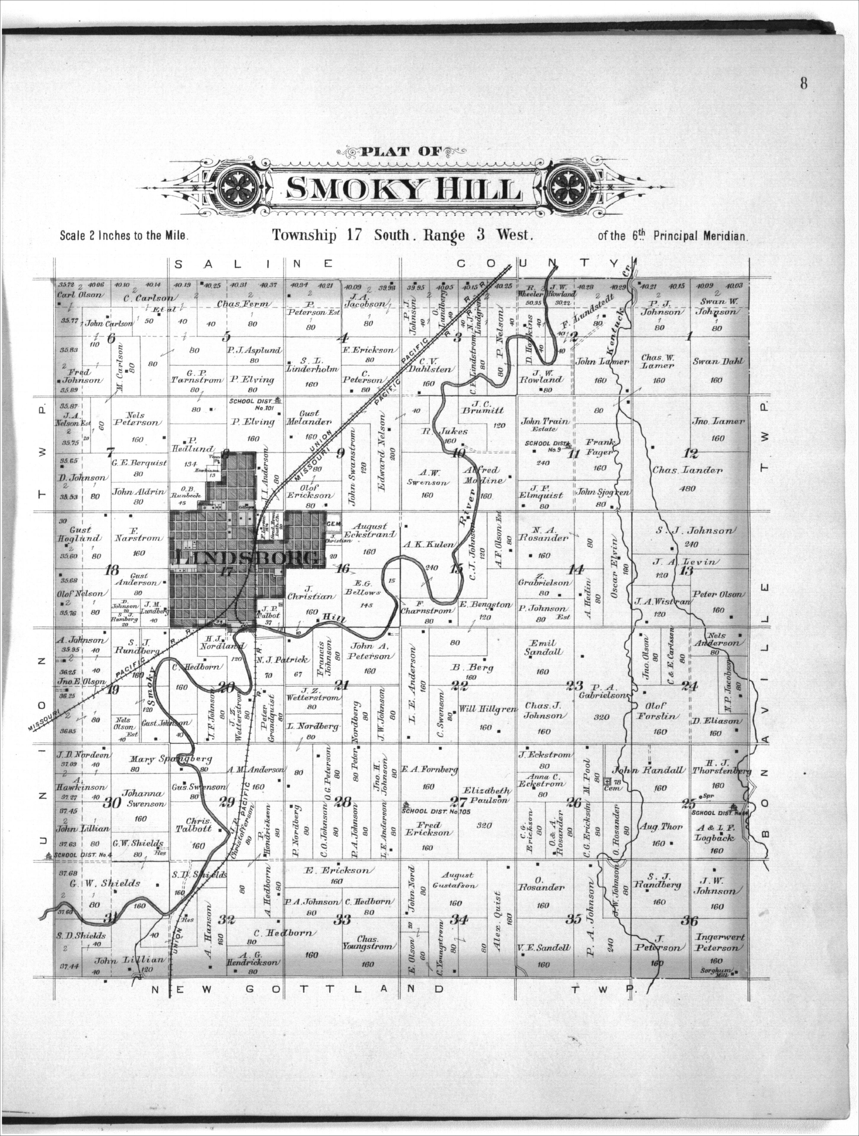 Plat book of McPherson County, Kansas - 8