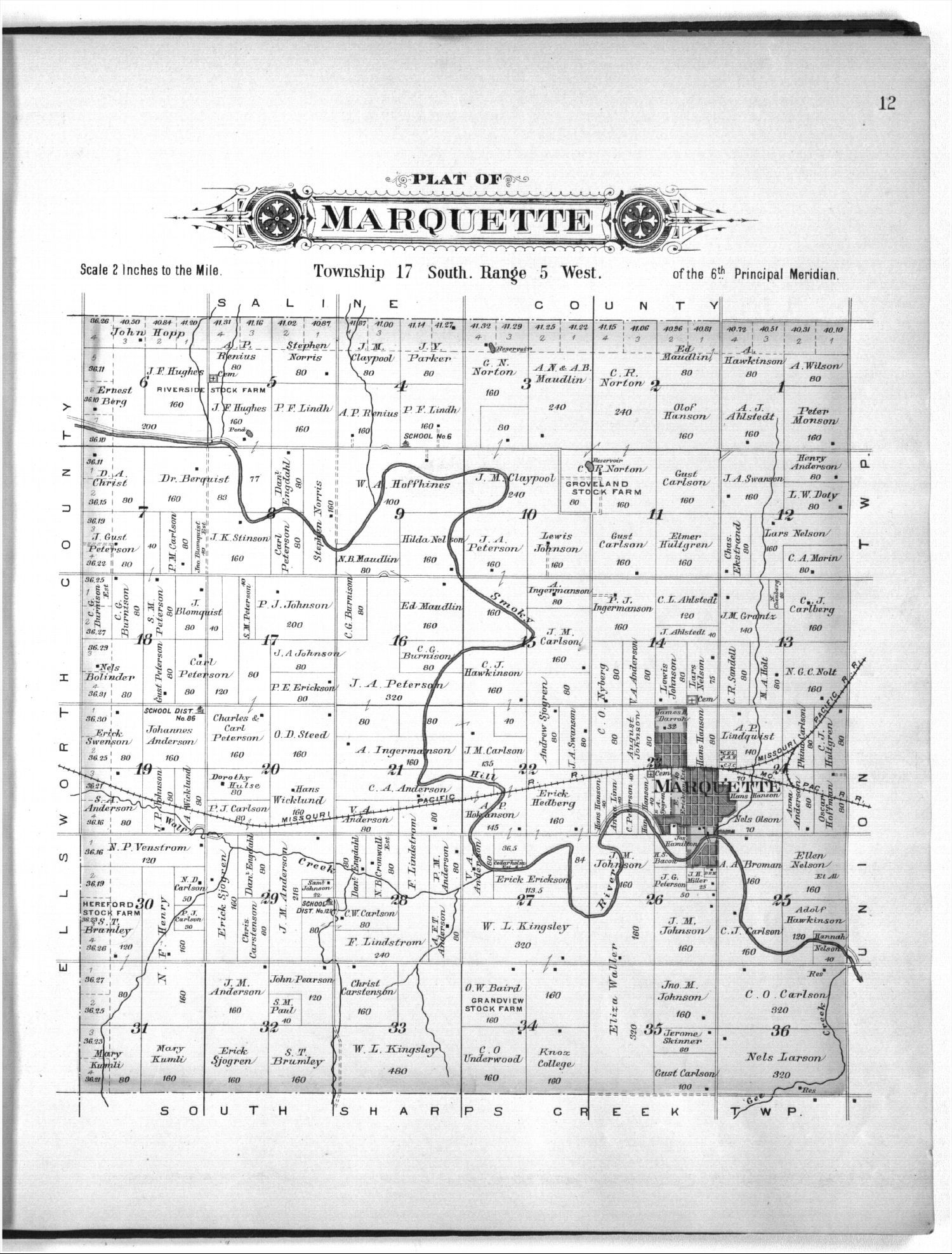 Plat book of McPherson County, Kansas - 12