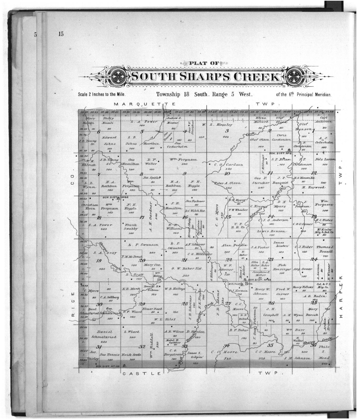 Plat book of McPherson County, Kansas - 15