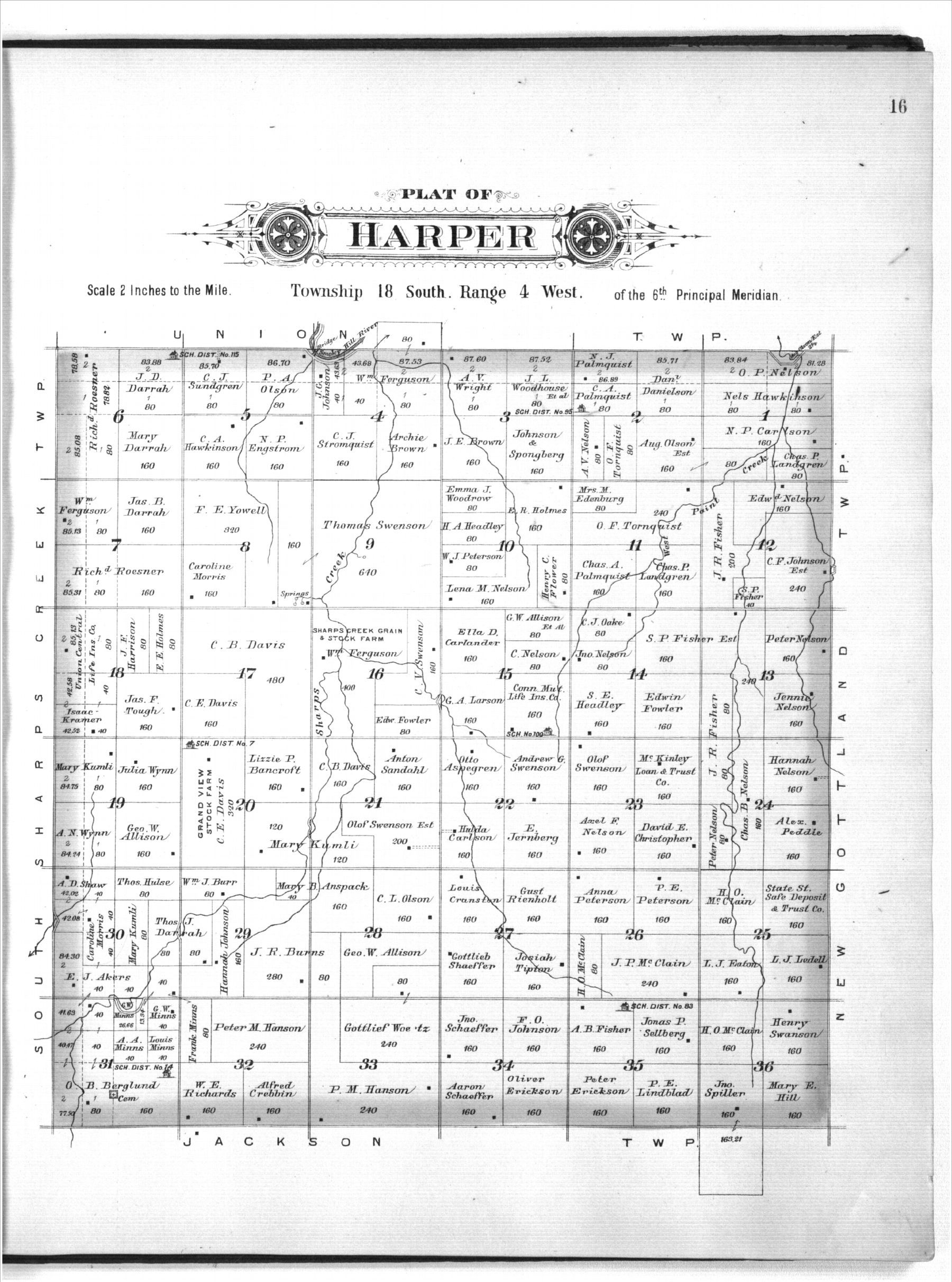 Plat book of McPherson County, Kansas - 16
