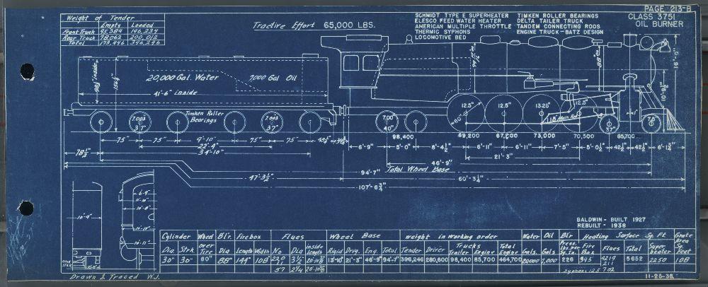 engine diagram for steam locomotive #3751