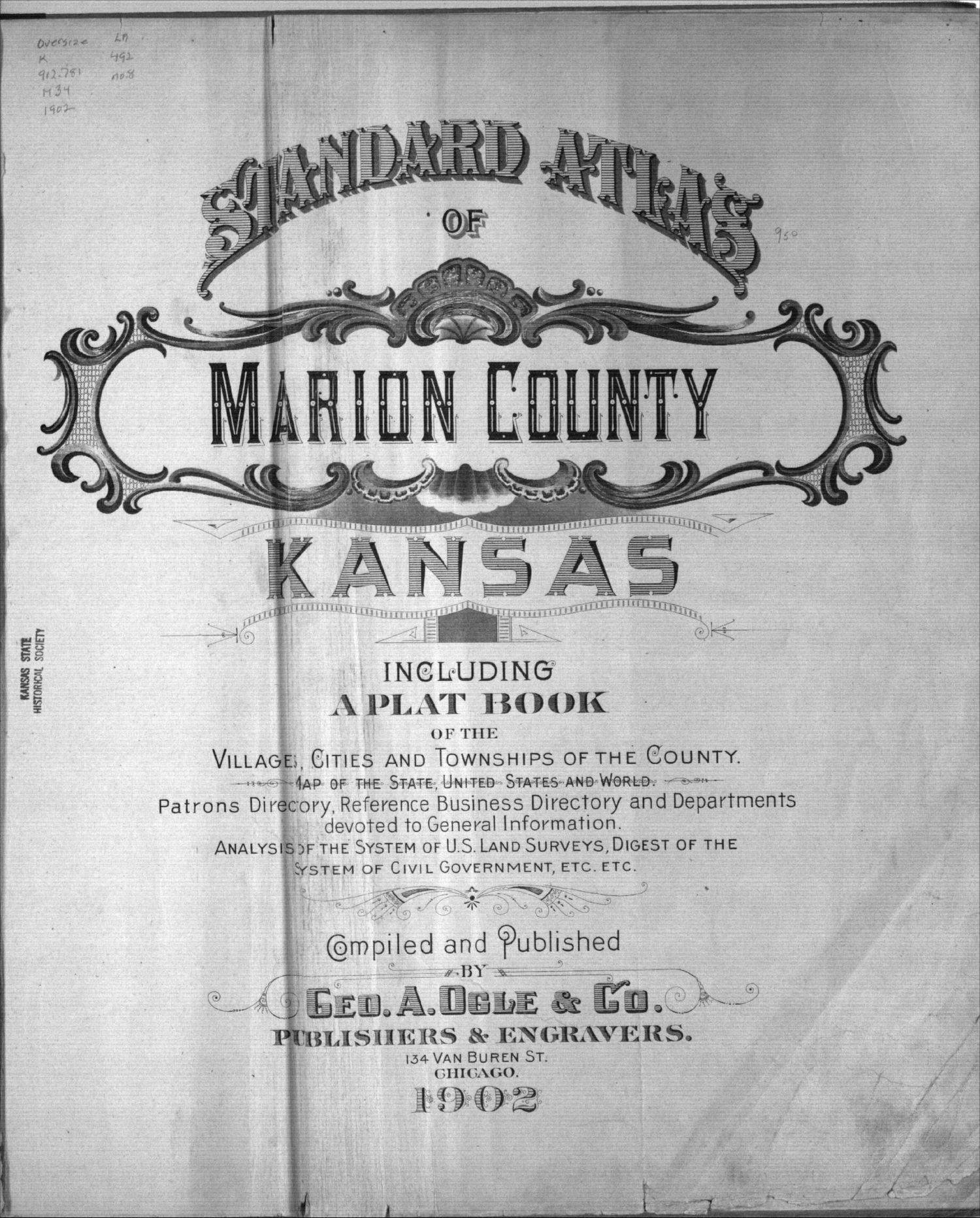 Standard atlas of Marion County, Kansas - Title Page