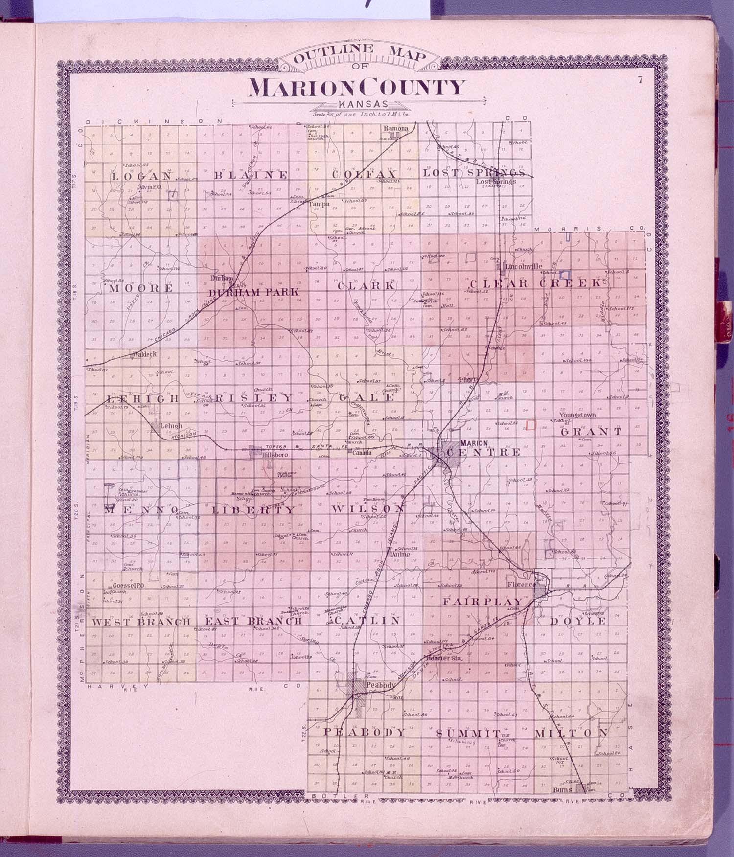 Standard atlas of Marion County, Kansas - 7