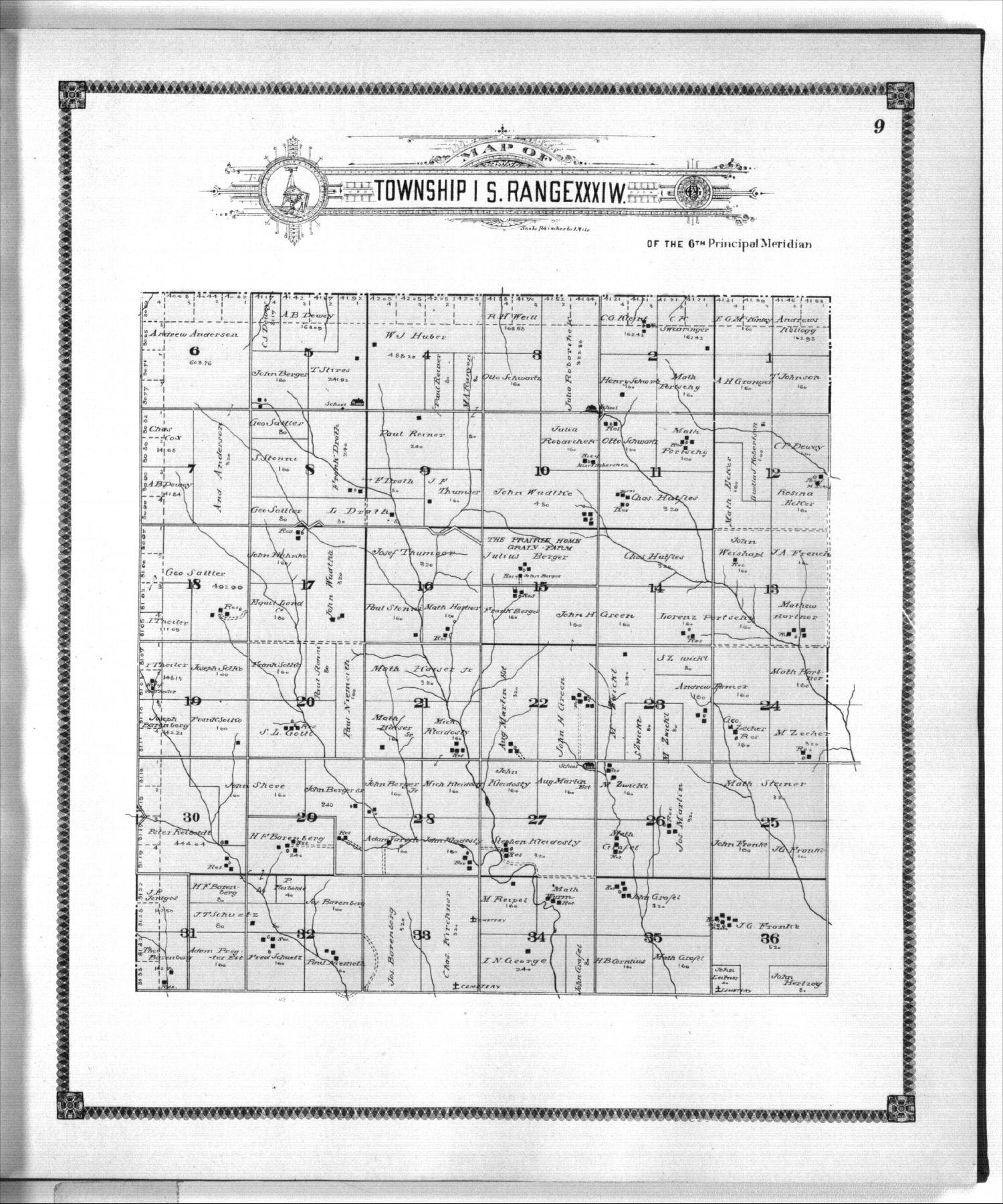 Standard atlas of Rawlins County, Kansas - 9