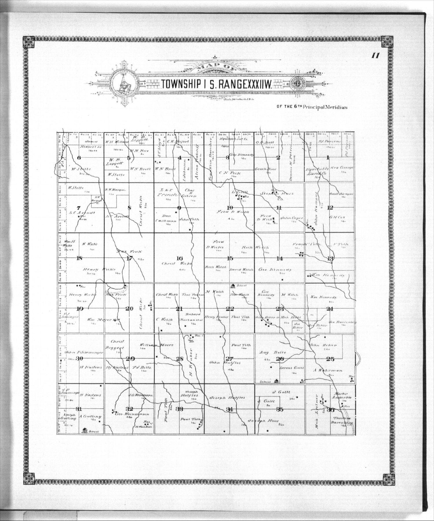 Standard atlas of Rawlins County, Kansas - 11