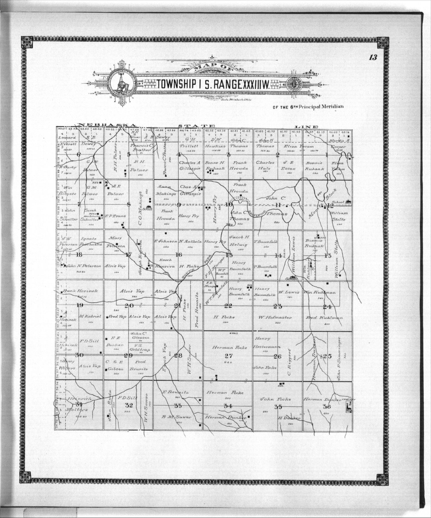 Standard atlas of Rawlins County, Kansas - 13