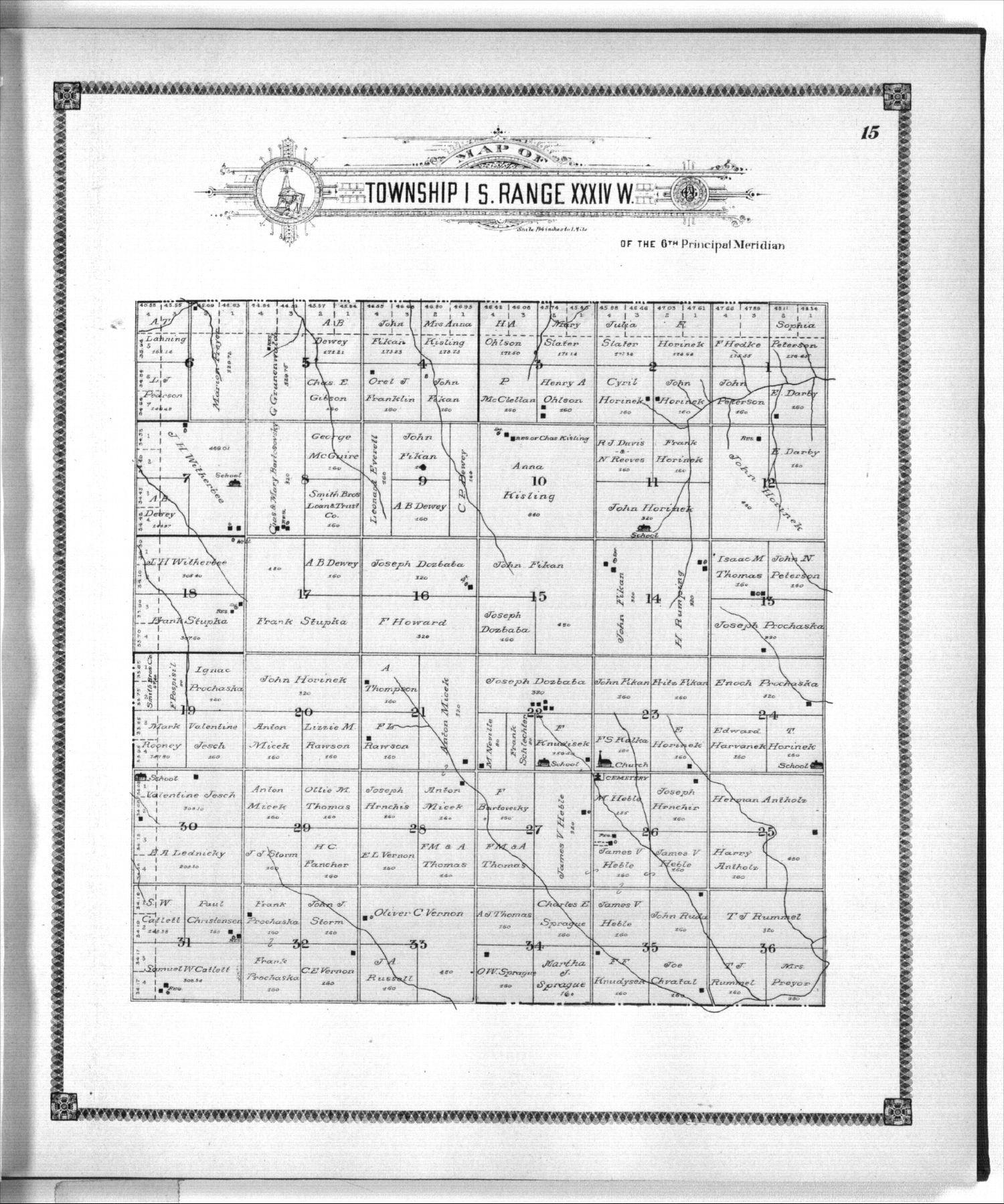 Standard atlas of Rawlins County, Kansas - 15