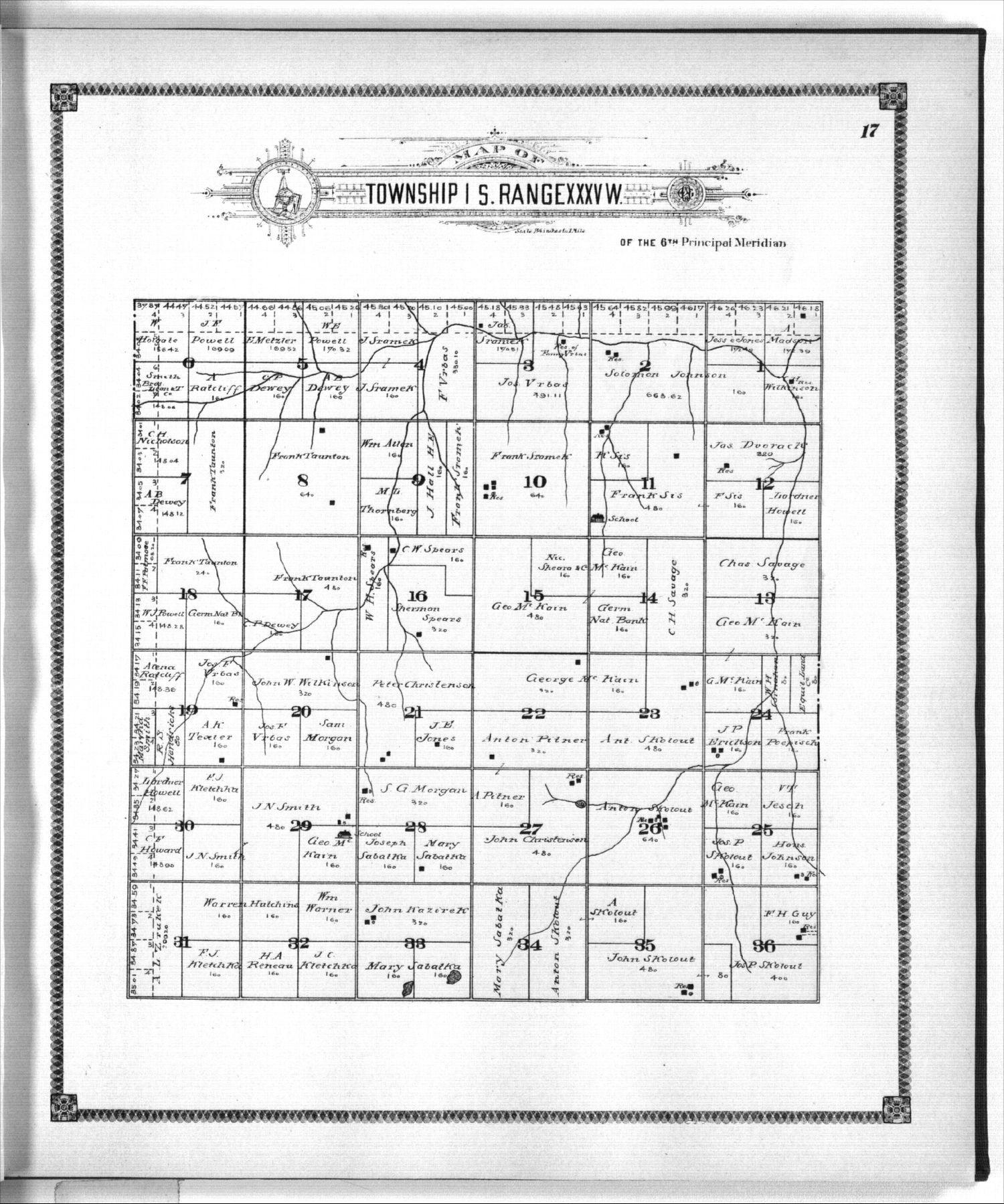 Standard atlas of Rawlins County, Kansas - 17