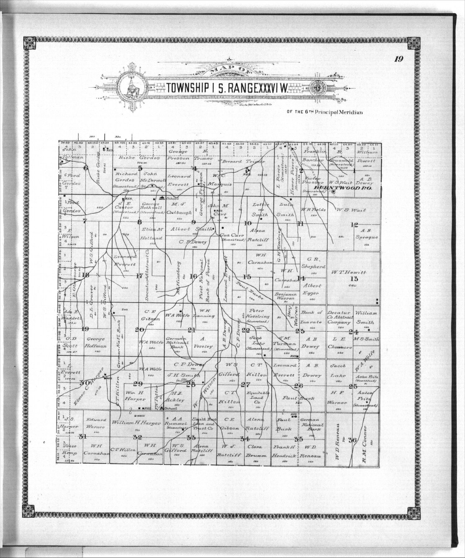 Standard atlas of Rawlins County, Kansas - 19