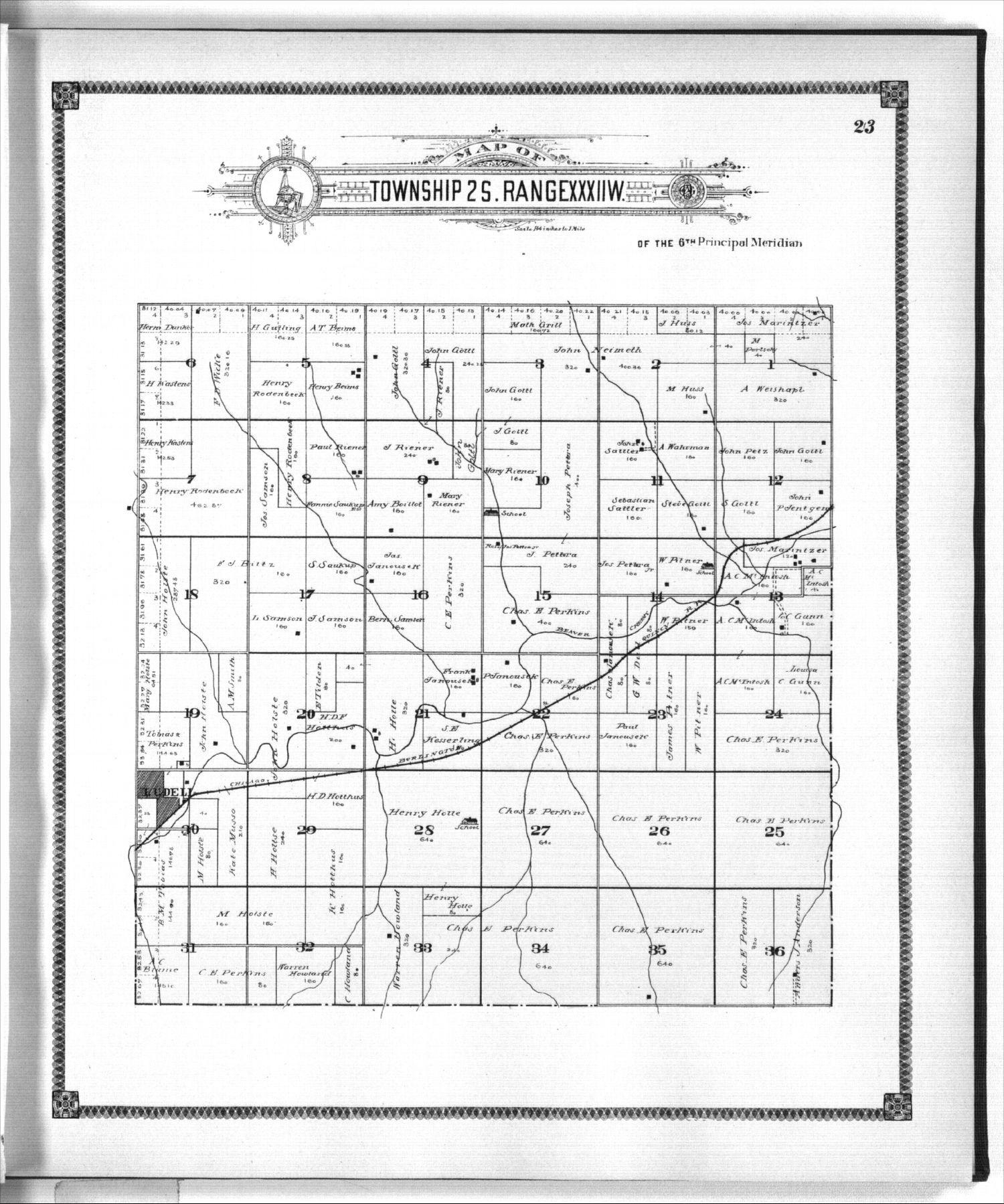 Standard atlas of Rawlins County, Kansas - 23