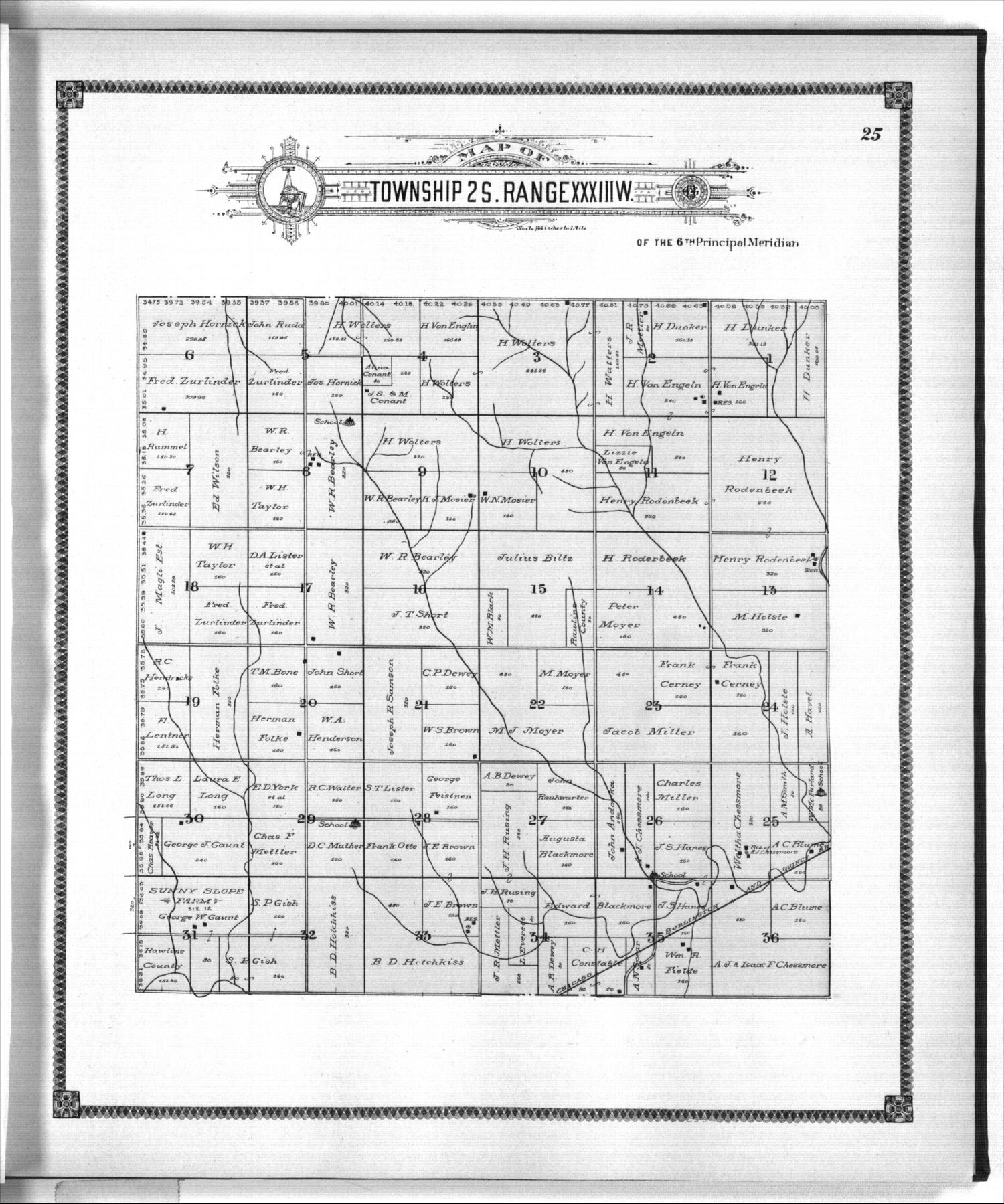 Standard atlas of Rawlins County, Kansas - 25