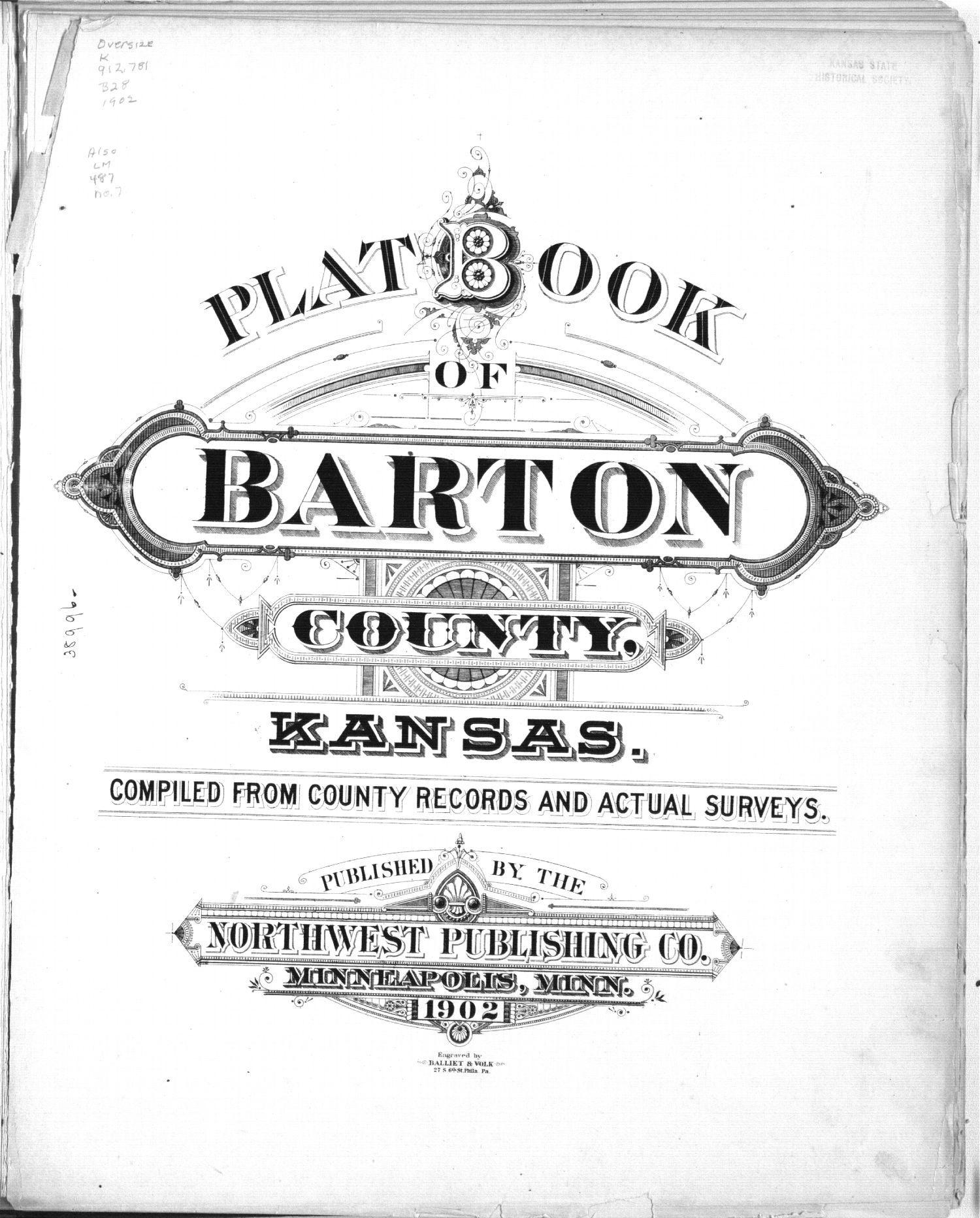 Plat book, Barton County, Kansas - Title Page