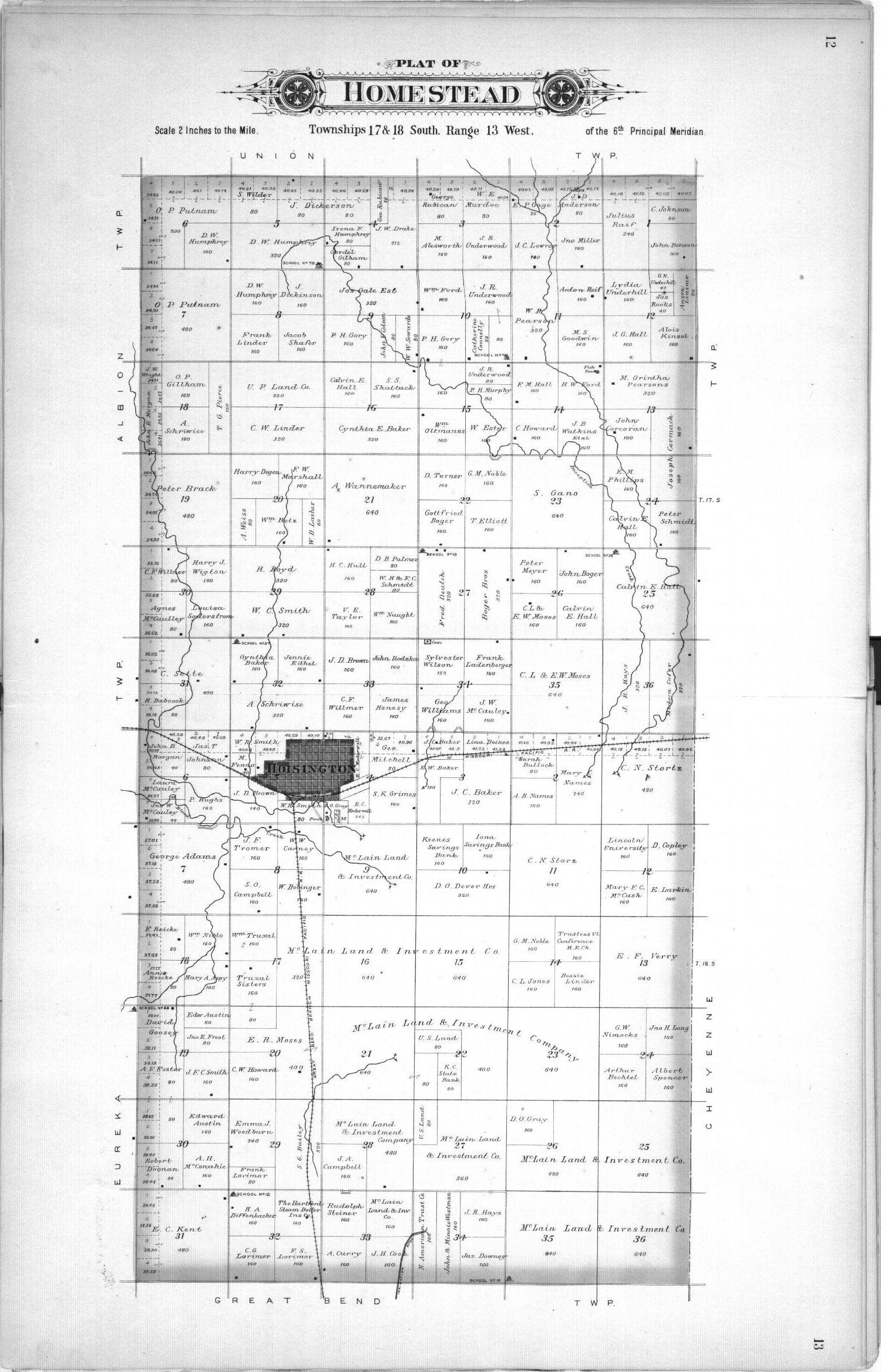 Plat book, Barton County, Kansas - 12 & 13