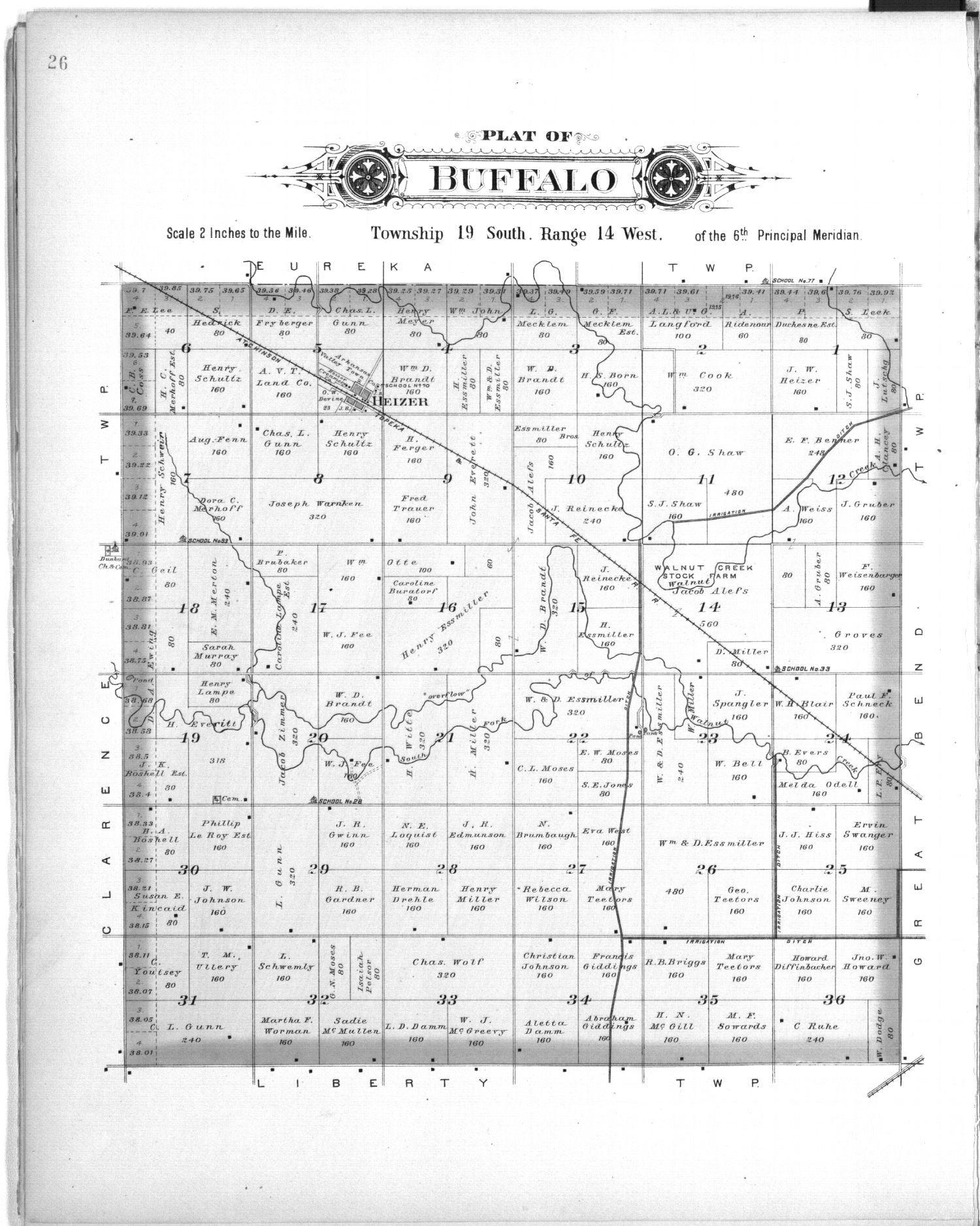 Plat book, Barton County, Kansas - 26