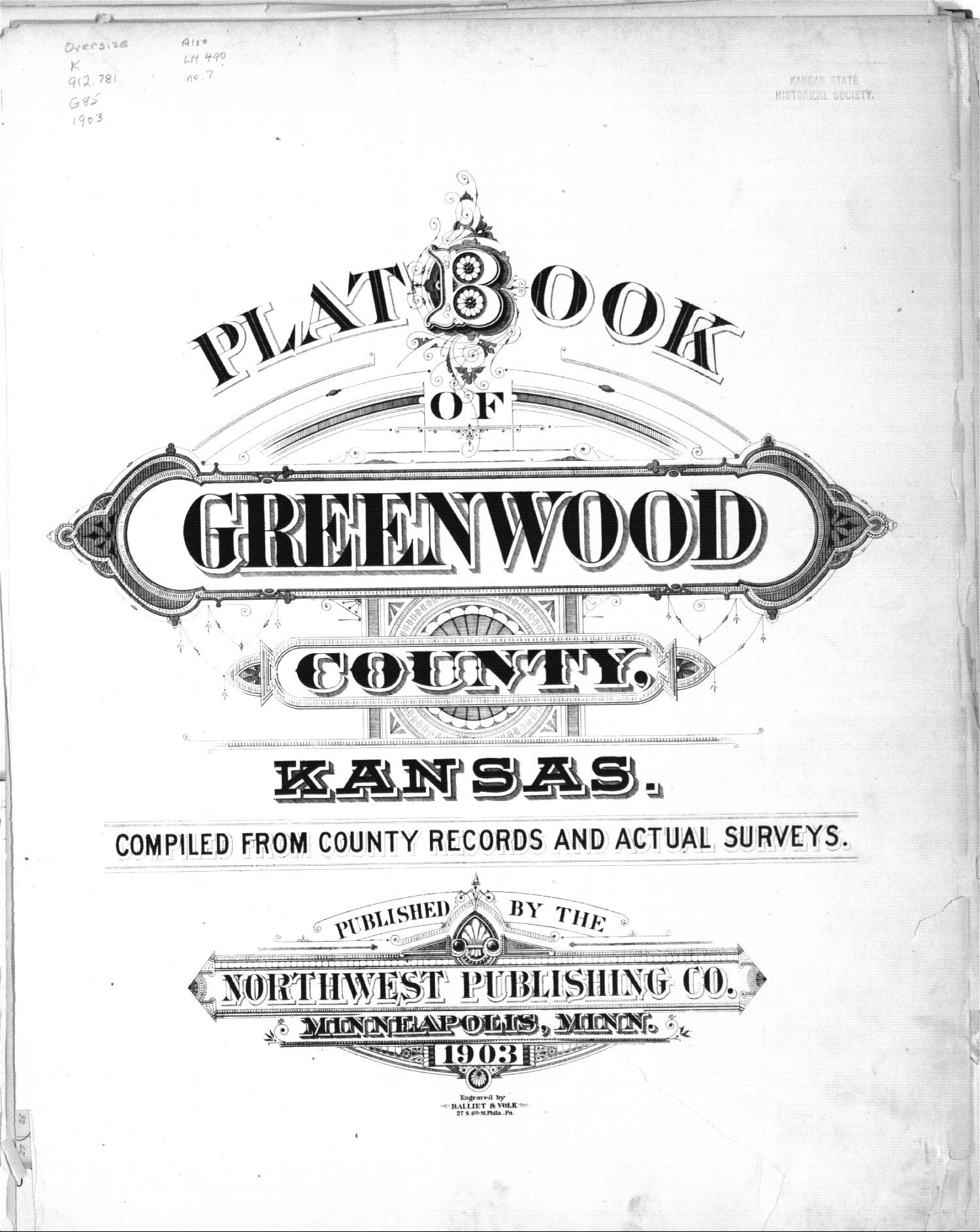 Plat book of Greenwood County, Kansas - Title Page