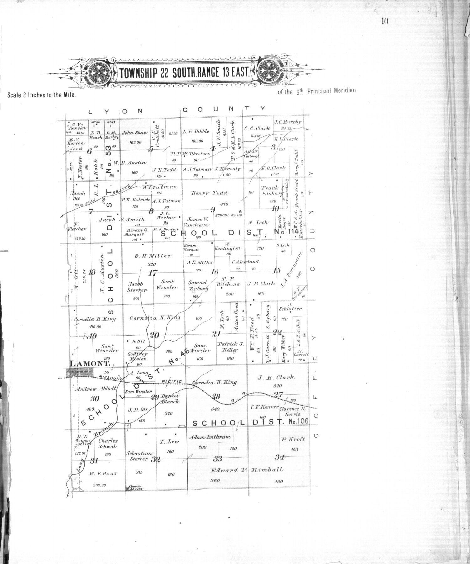 Plat book of Greenwood County, Kansas - 10