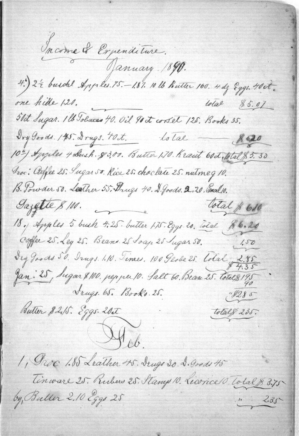Augusta Bruchmiller memorandum book - 1