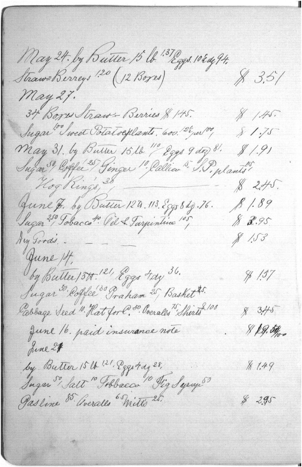 Augusta Bruchmiller memorandum book - 6