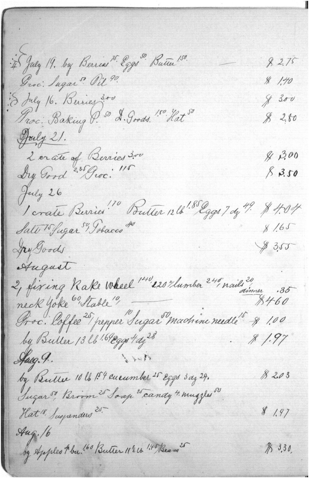 Augusta Bruchmiller memorandum book - 8