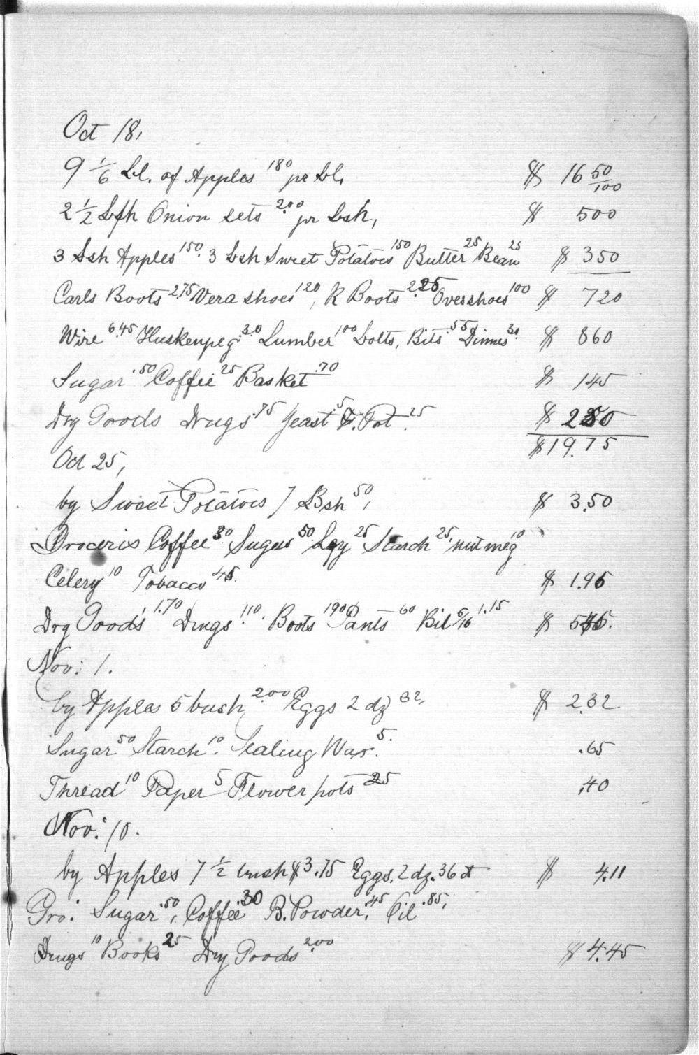 Augusta Bruchmiller memorandum book - 11