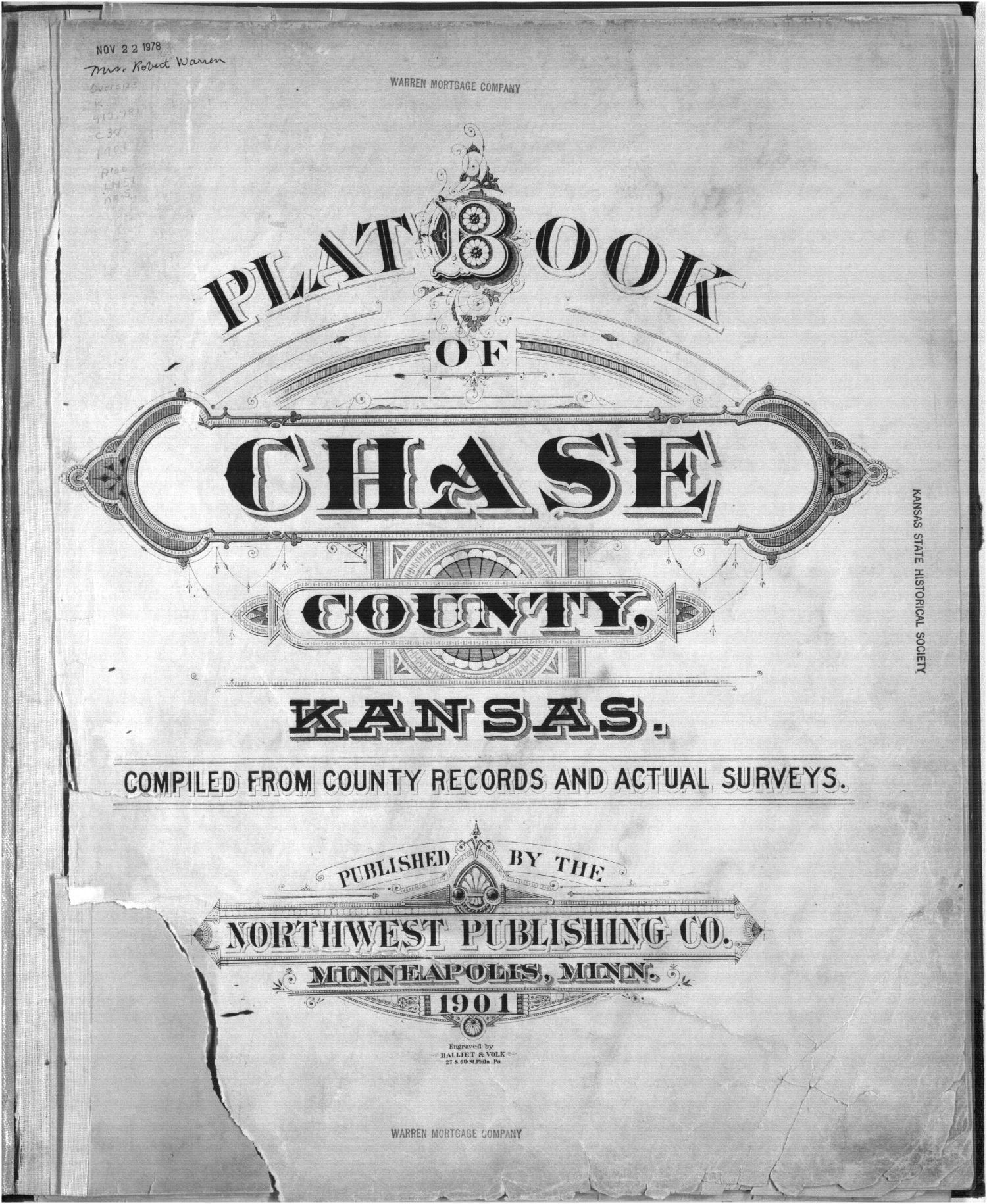 Plat book, Chase County, Kansas - Title Page