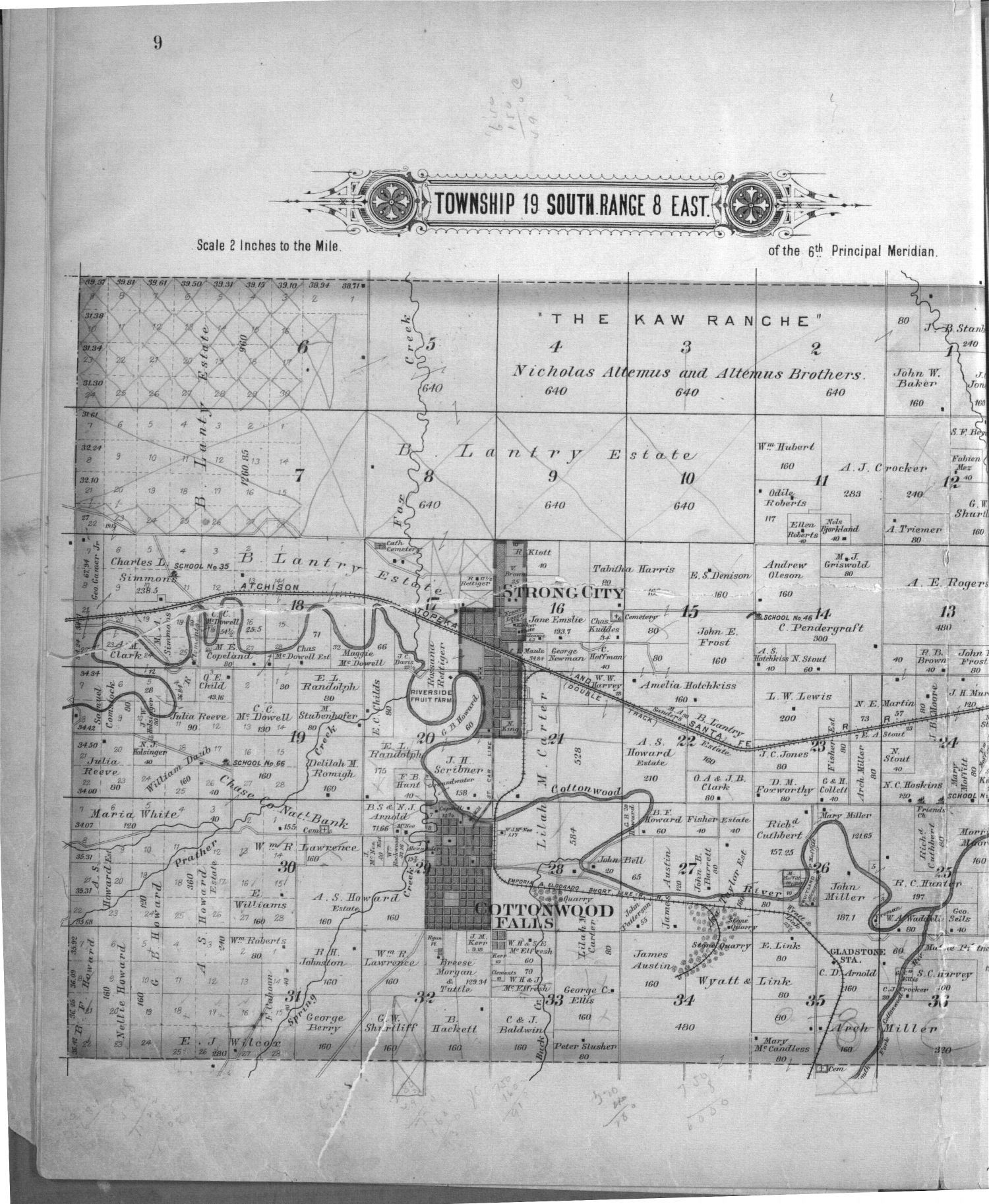 Plat book, Chase County, Kansas - 9