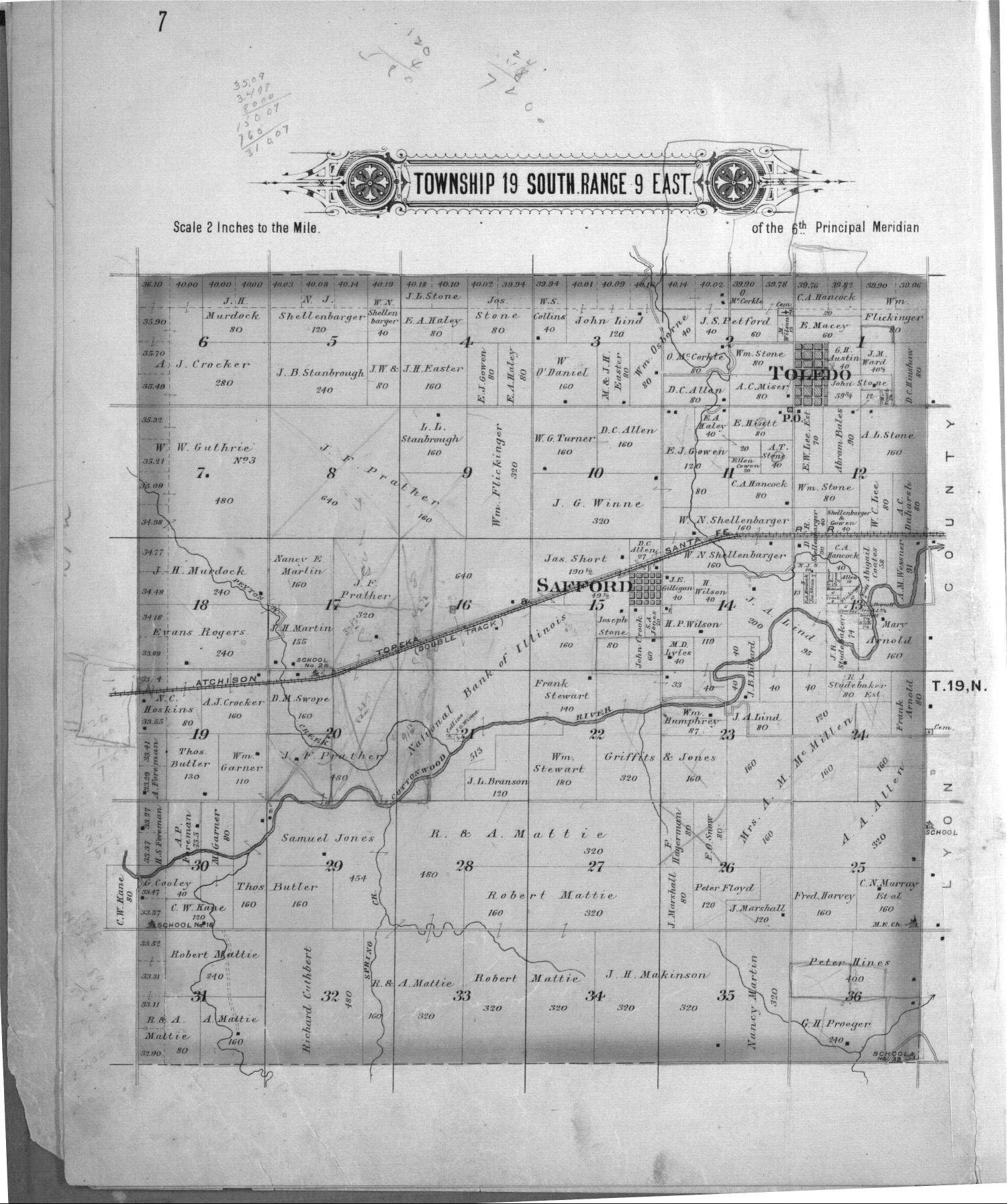 Plat book, Chase County, Kansas - 7
