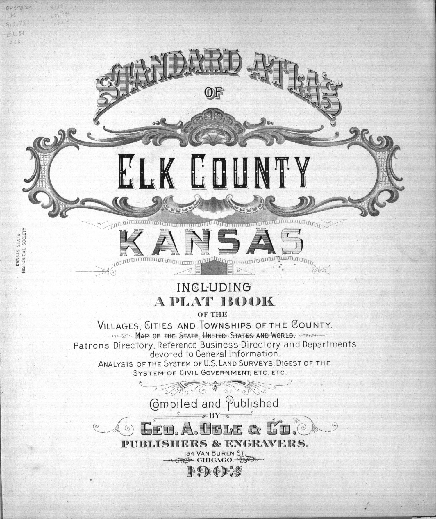 Standard atlas of Elk County, Kansas - Title Page