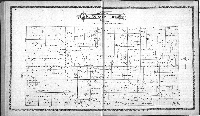 Standard atlas of Elk County, Kansas - 22 & 23