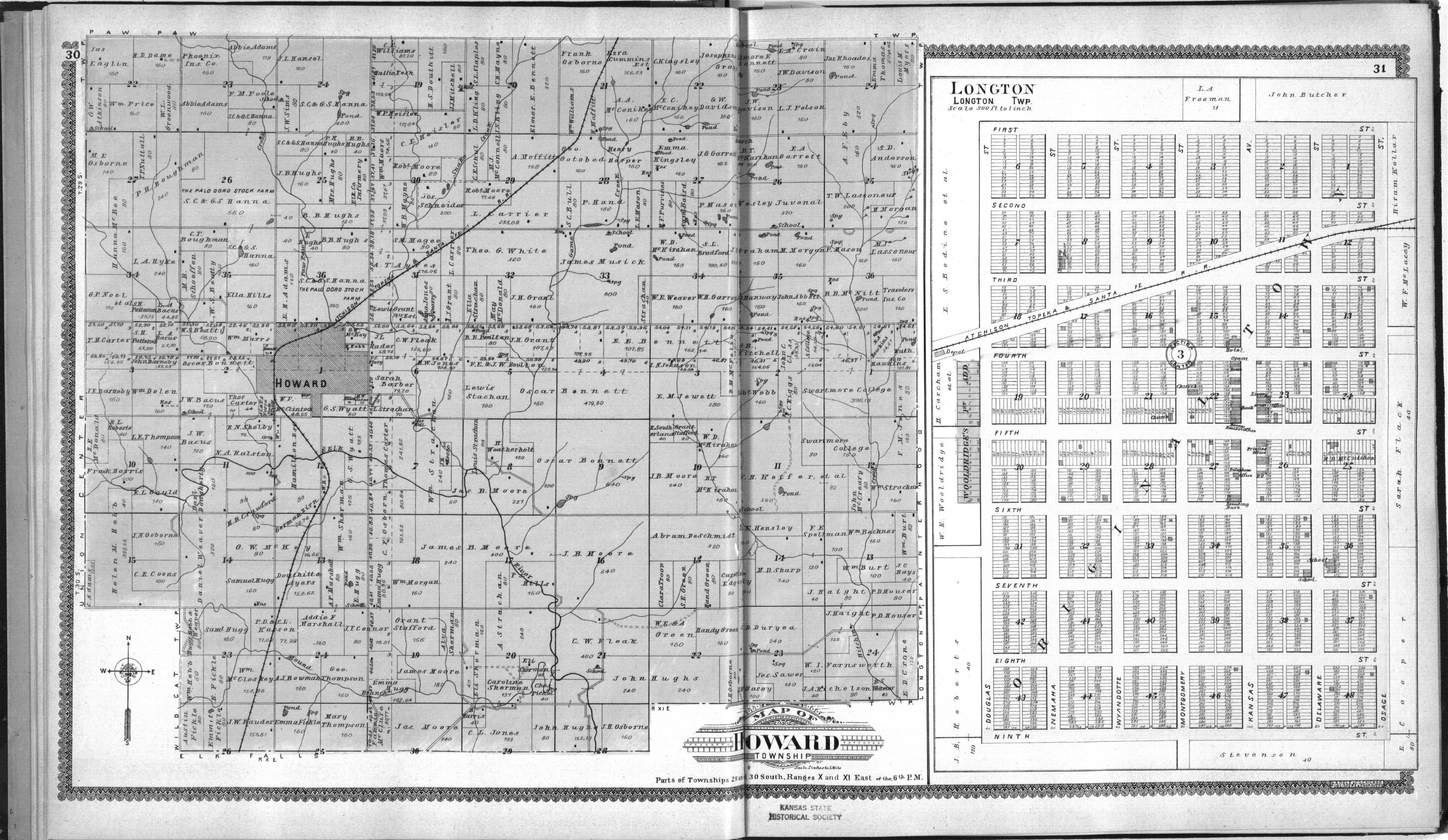 Standard atlas of Elk County, Kansas - 30 & 31