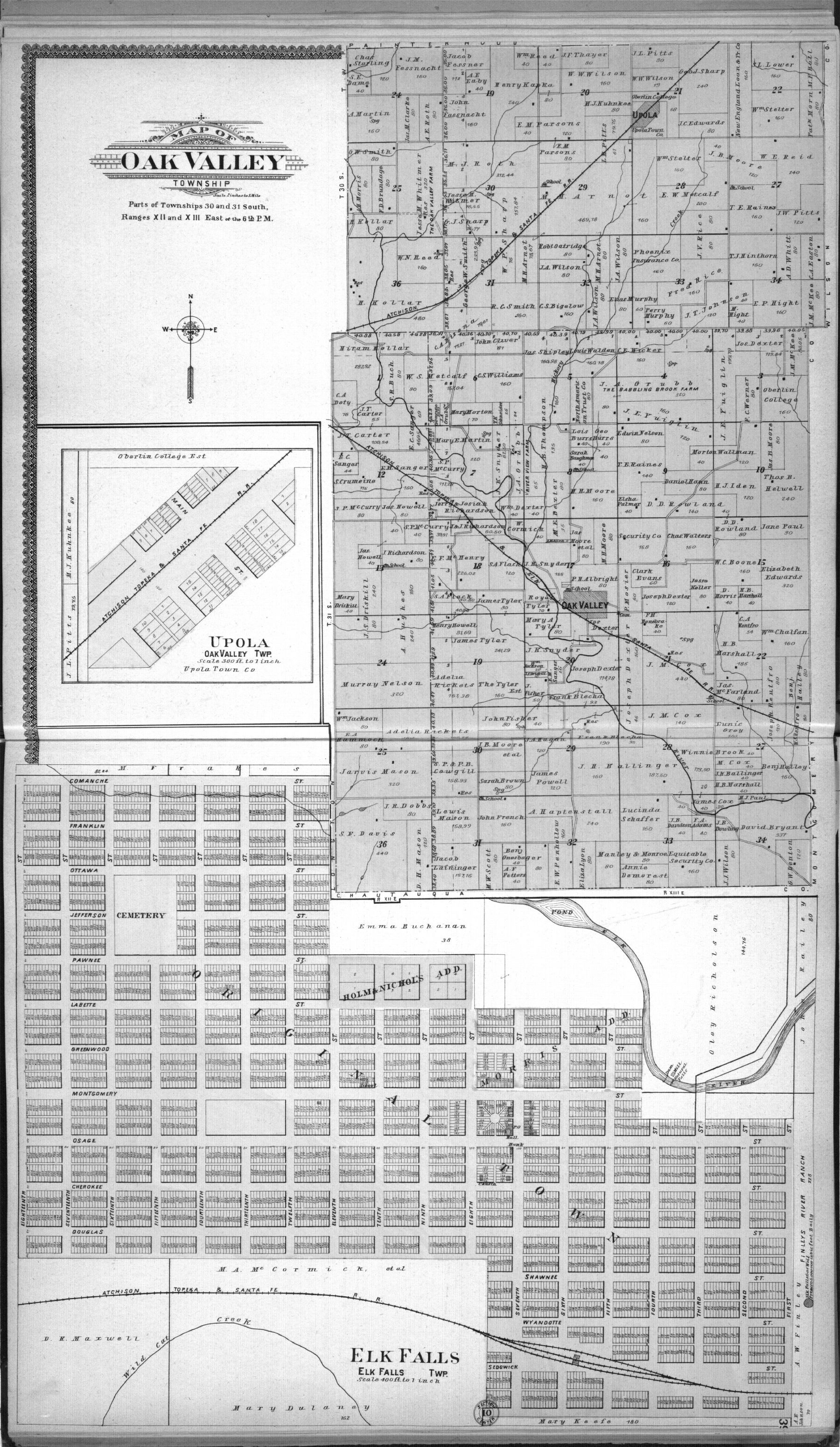 Standard atlas of Elk County, Kansas - 38 & 39