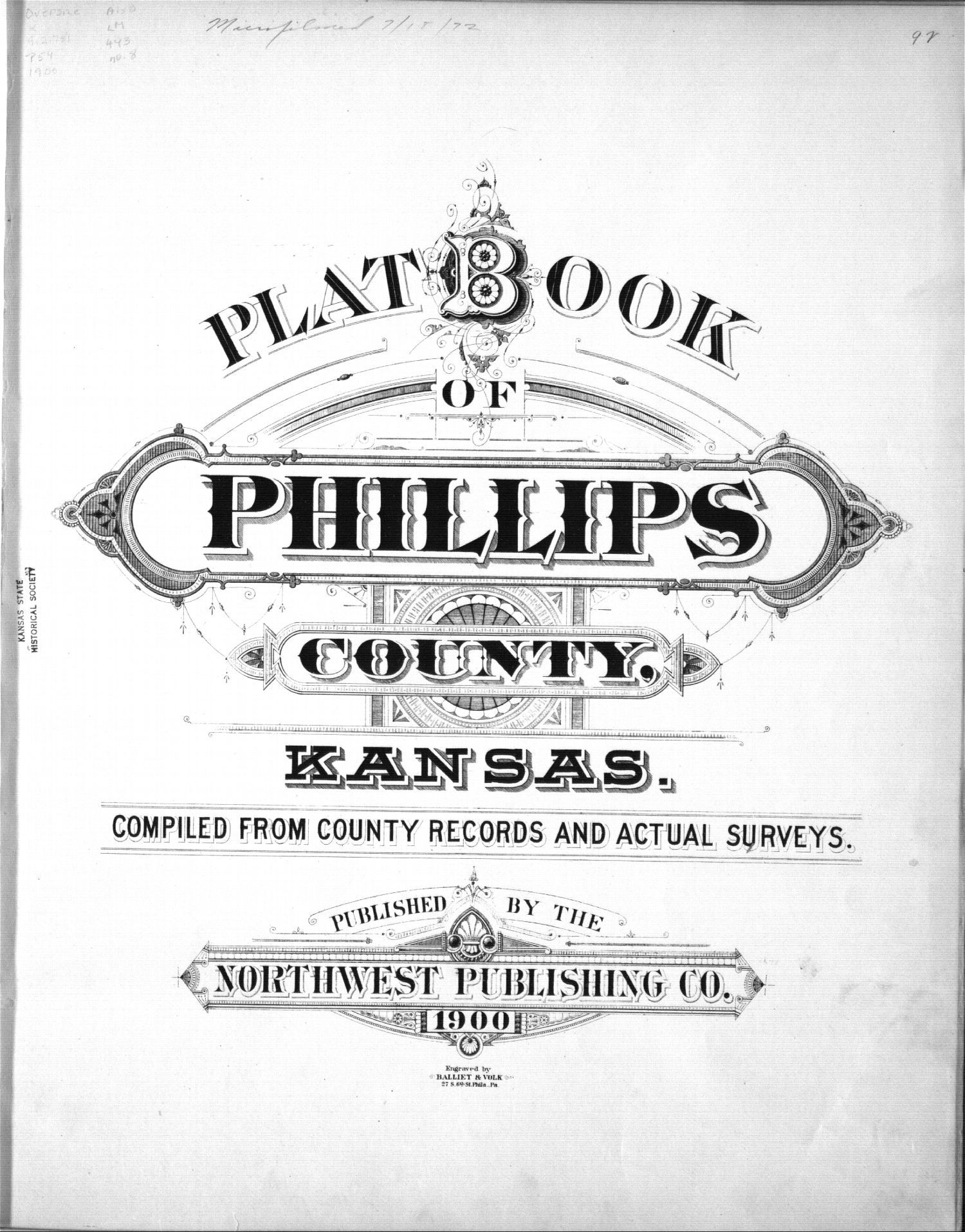 Plat book, Phillips County, Kansas - Title Page