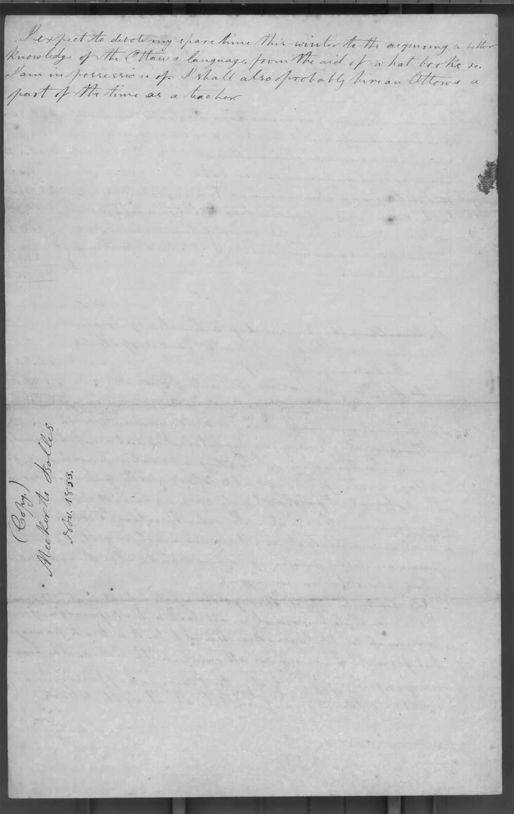 Jotham Meeker to Rev. Lucius Bolles - 4