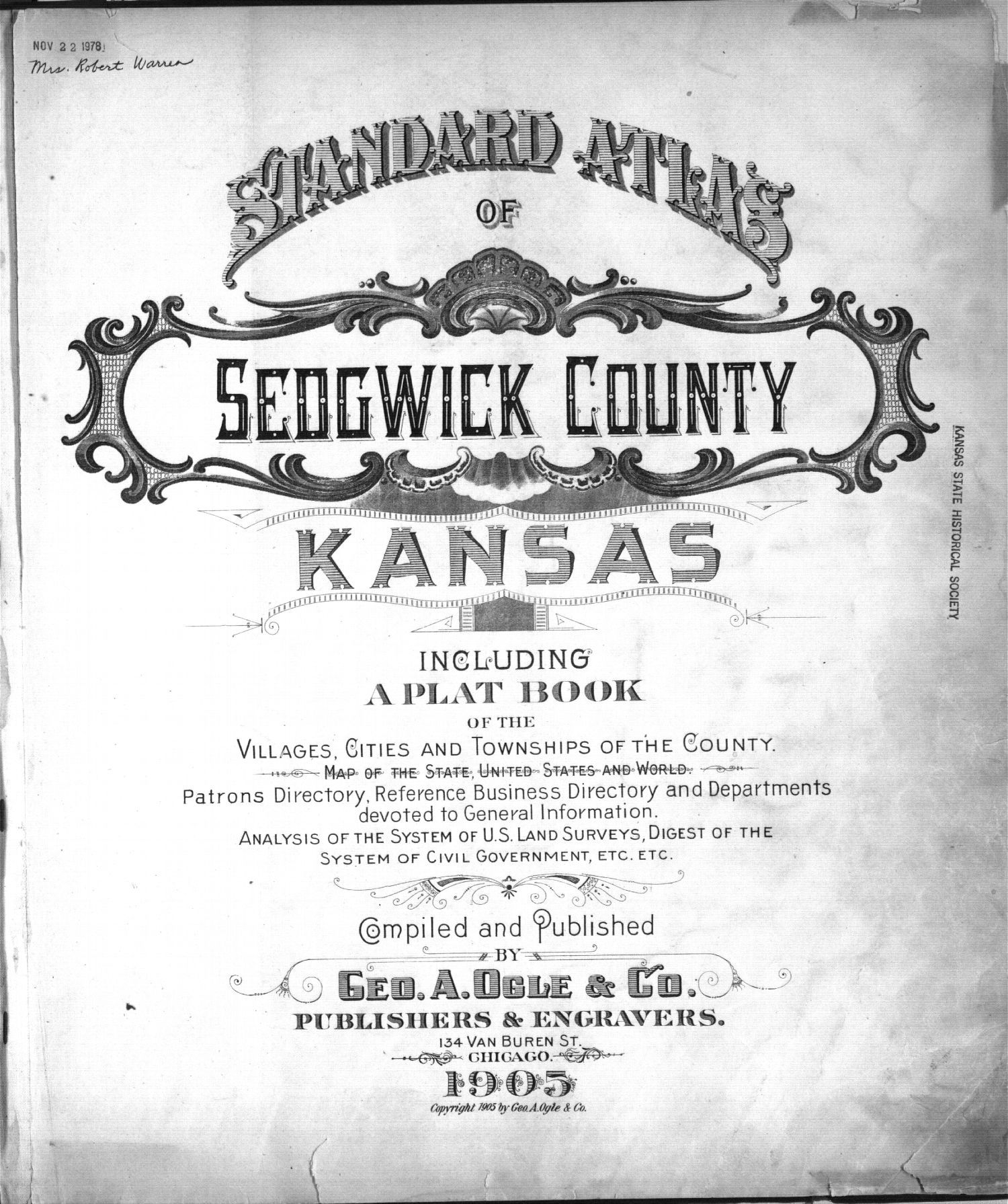 Standard atlas of Sedgwick County, Kansas - Title Page
