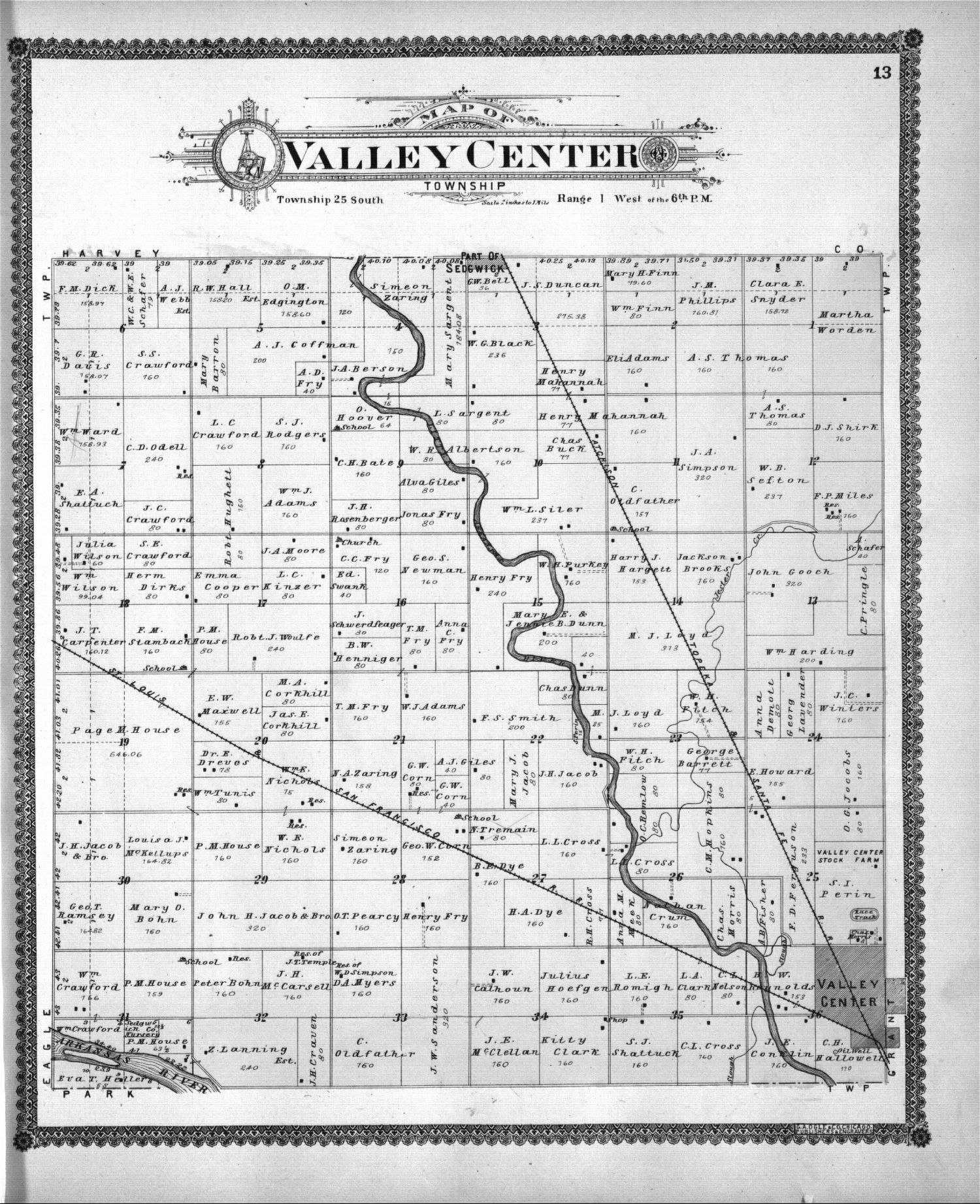 Standard atlas of Sedgwick County, Kansas - 13