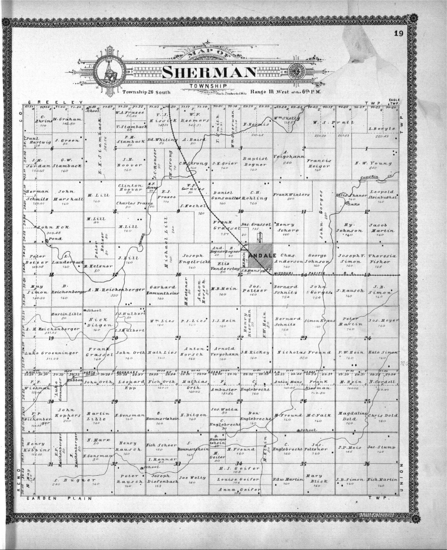 Standard atlas of Sedgwick County, Kansas - 19