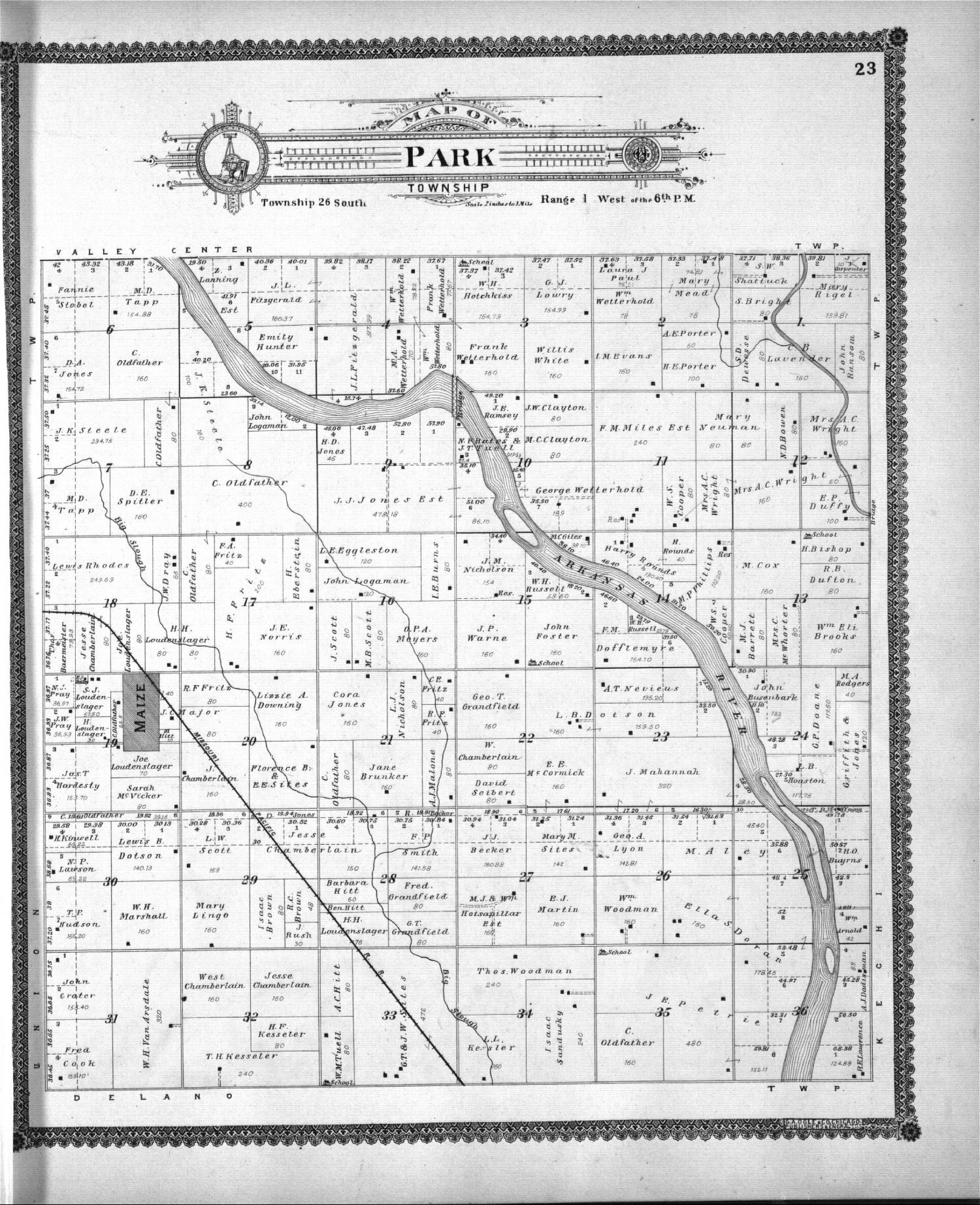 Standard atlas of Sedgwick County, Kansas - 23