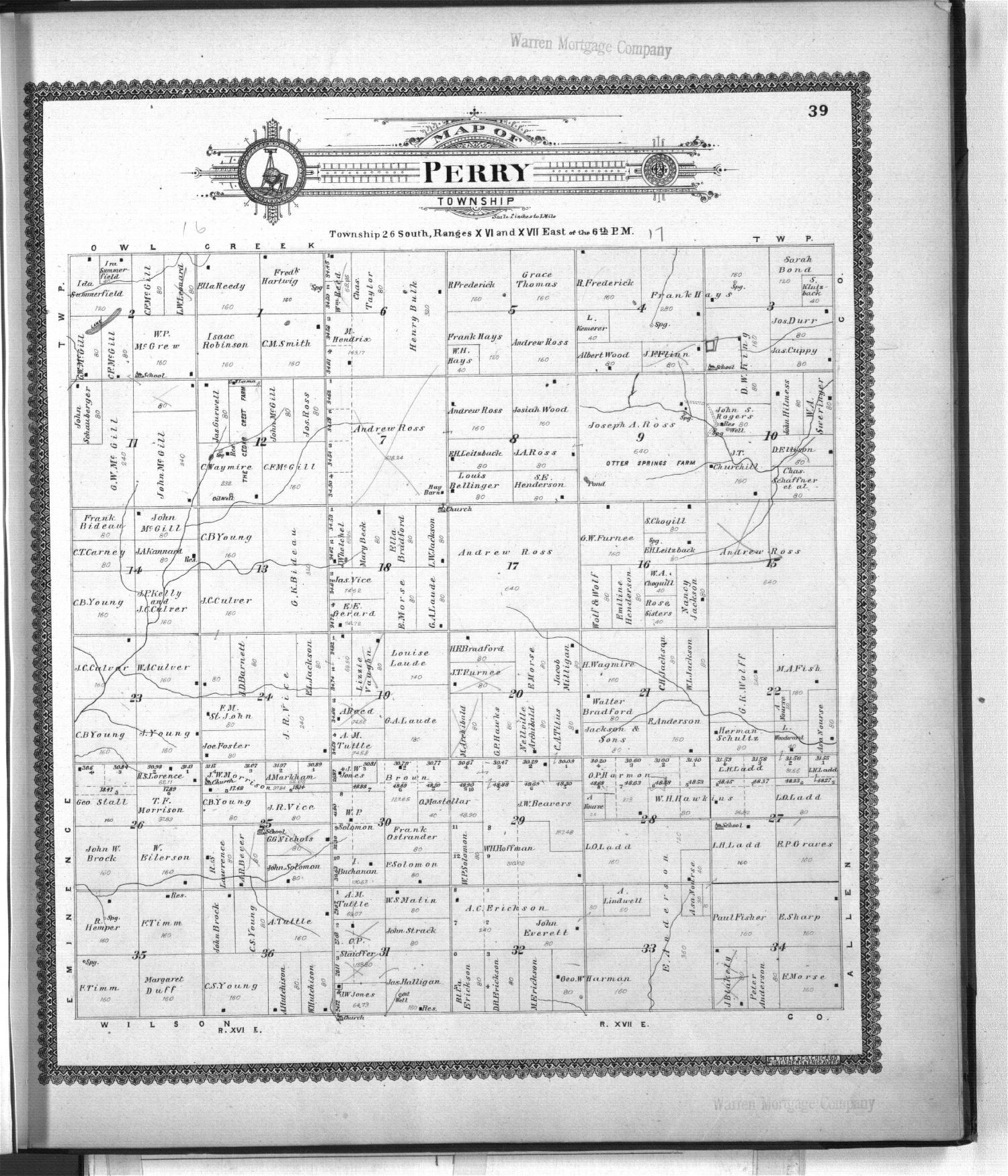 Standard atlas of Woodson County, Kansas - 39