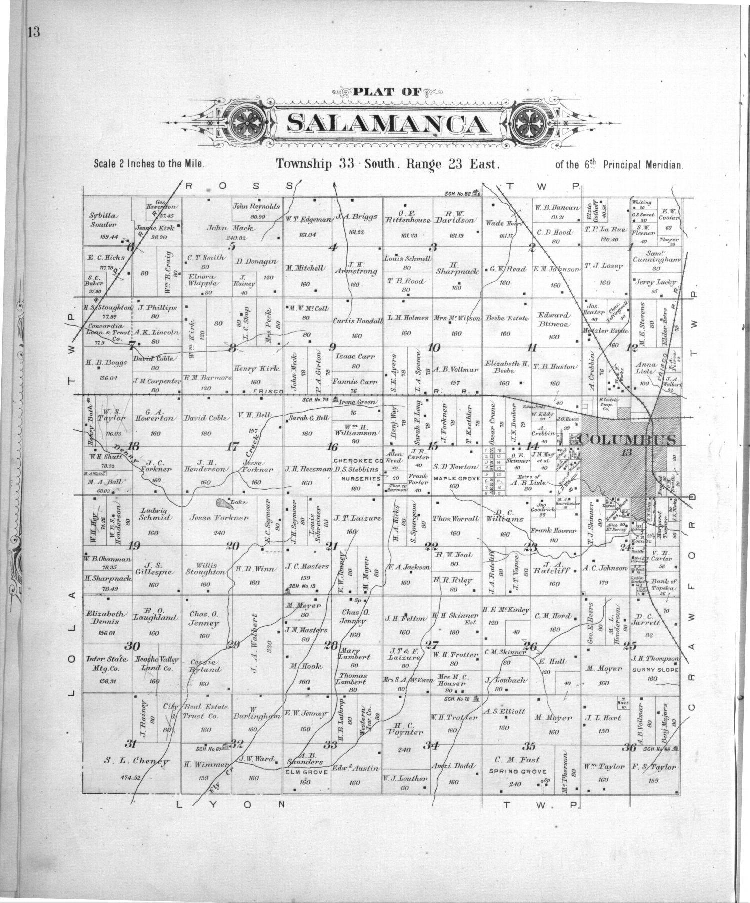 Plat book, Cherokee County, Kansas - 13