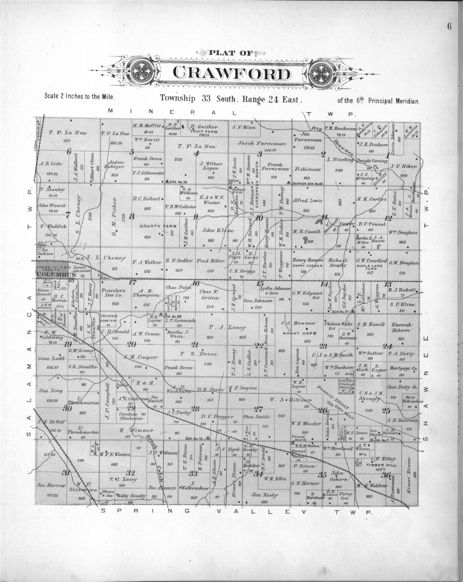 Plat book, Cherokee County, Kansas - 6