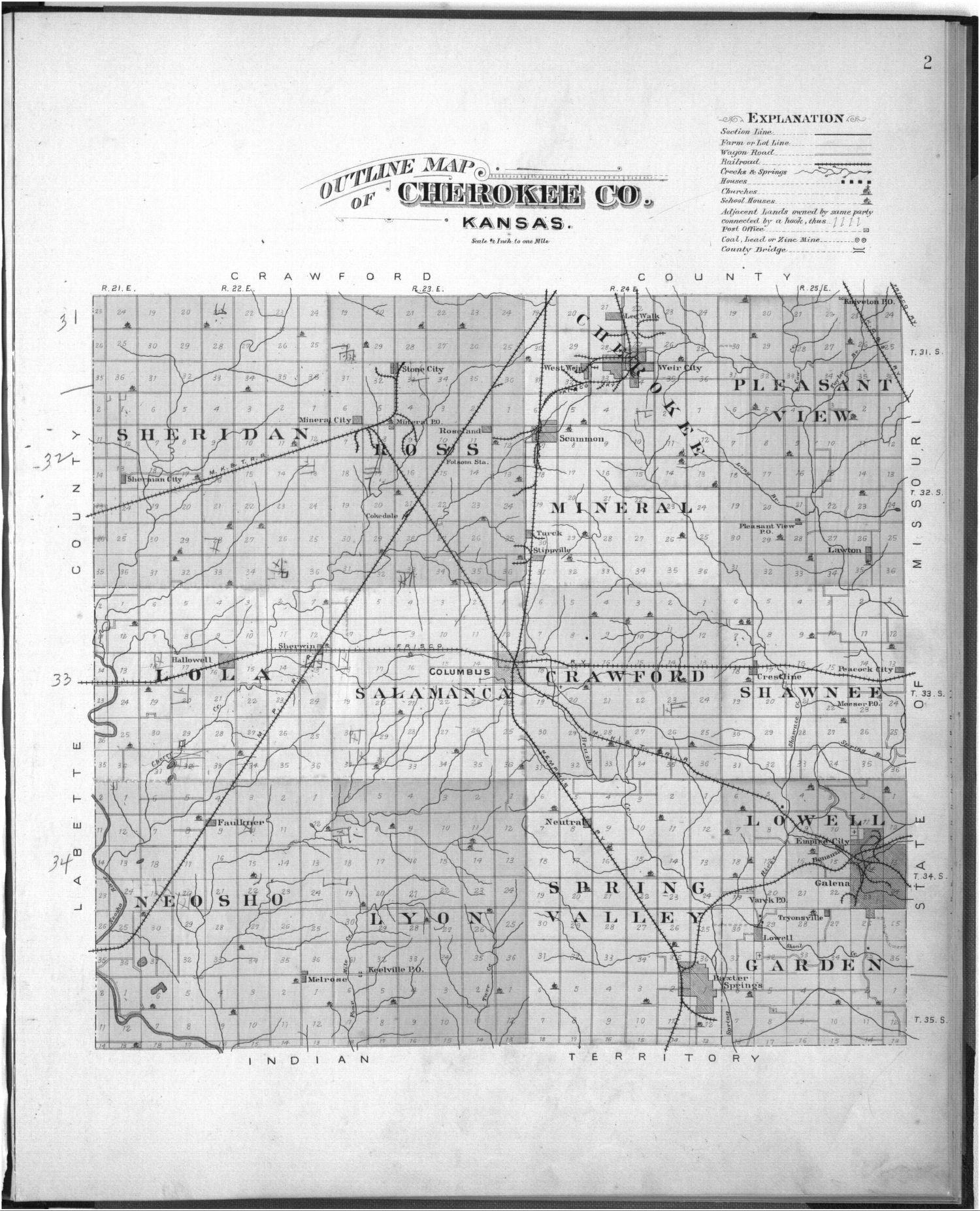 Plat book, Cherokee County, Kansas - 2