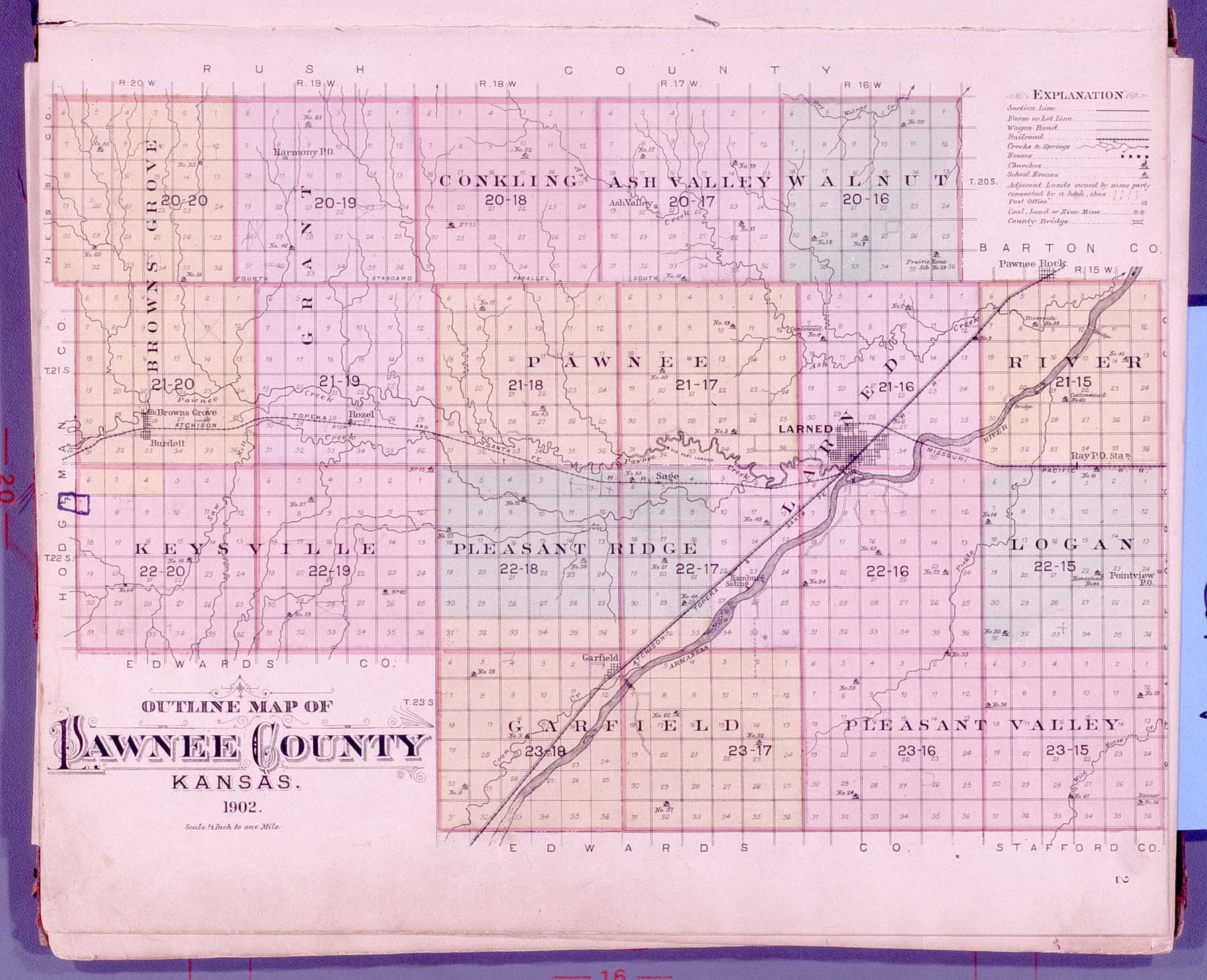 Plat book of Pawnee County, Kansas - 2