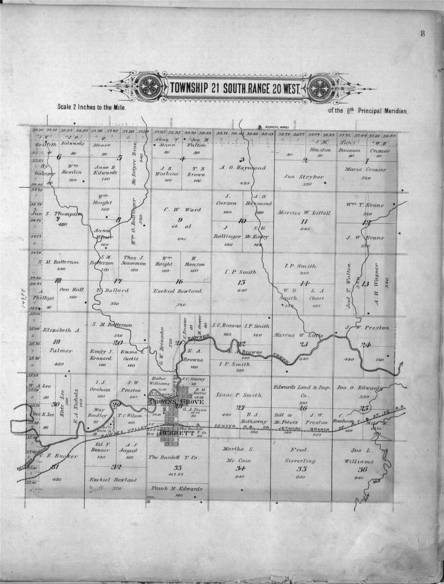 Plat book of Pawnee County, Kansas - 8