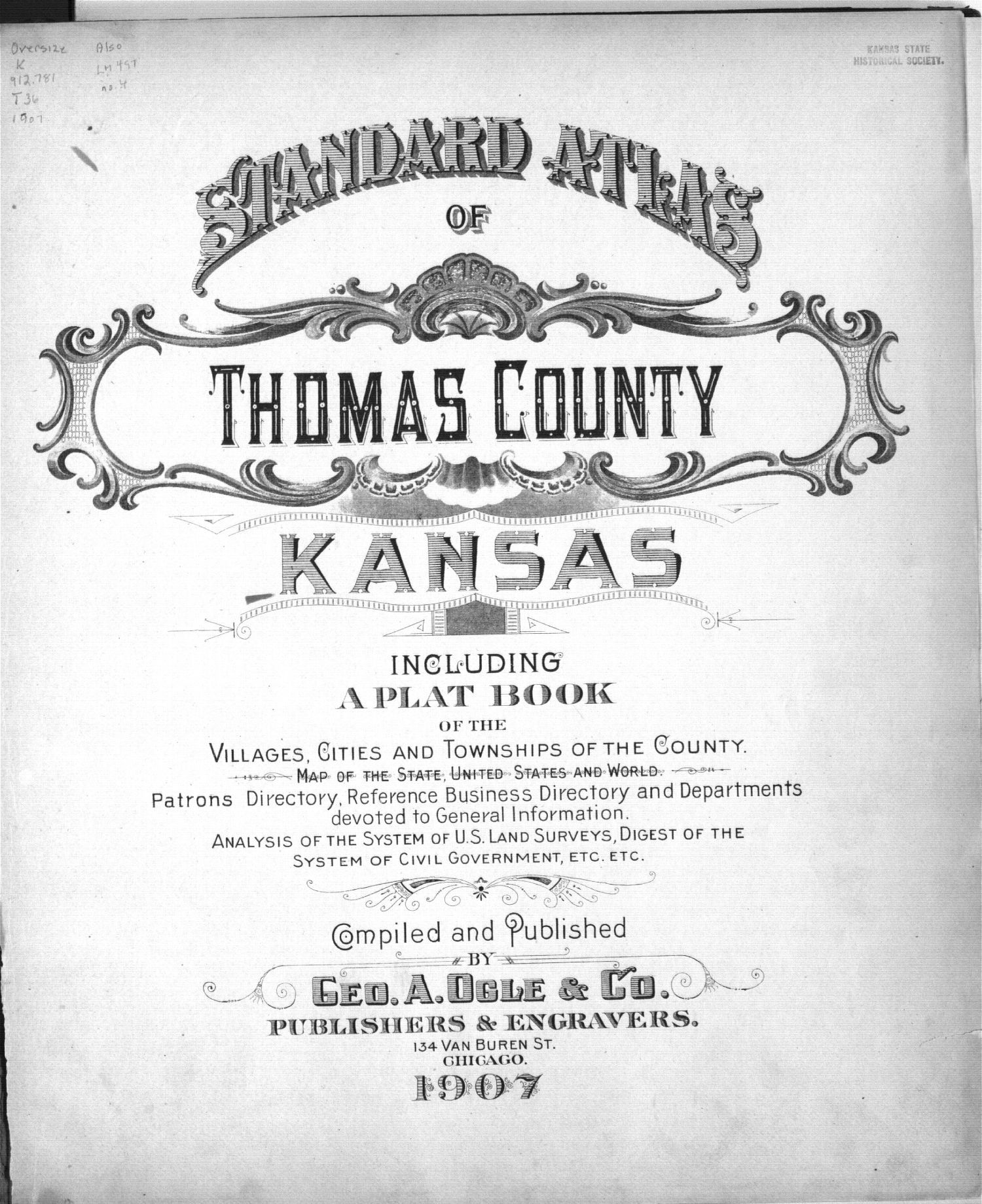 Standard atlas of Thomas County, Kansas - Title Page