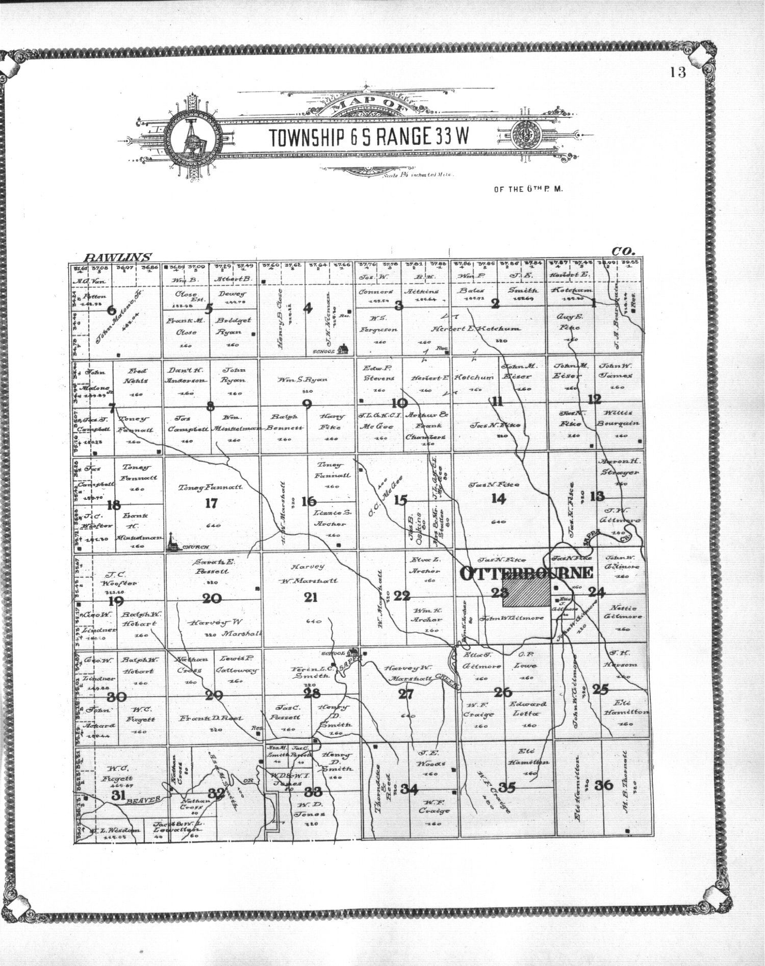 Standard atlas of Thomas County, Kansas - 13