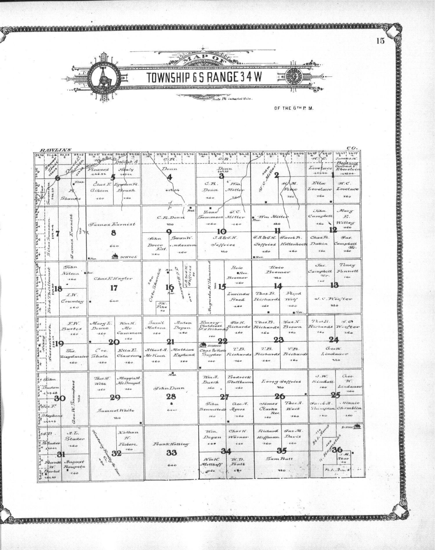 Standard atlas of Thomas County, Kansas - 15