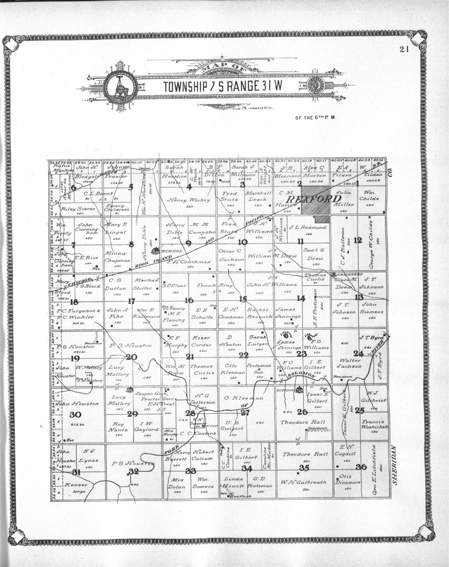 Standard atlas of Thomas County, Kansas - 21