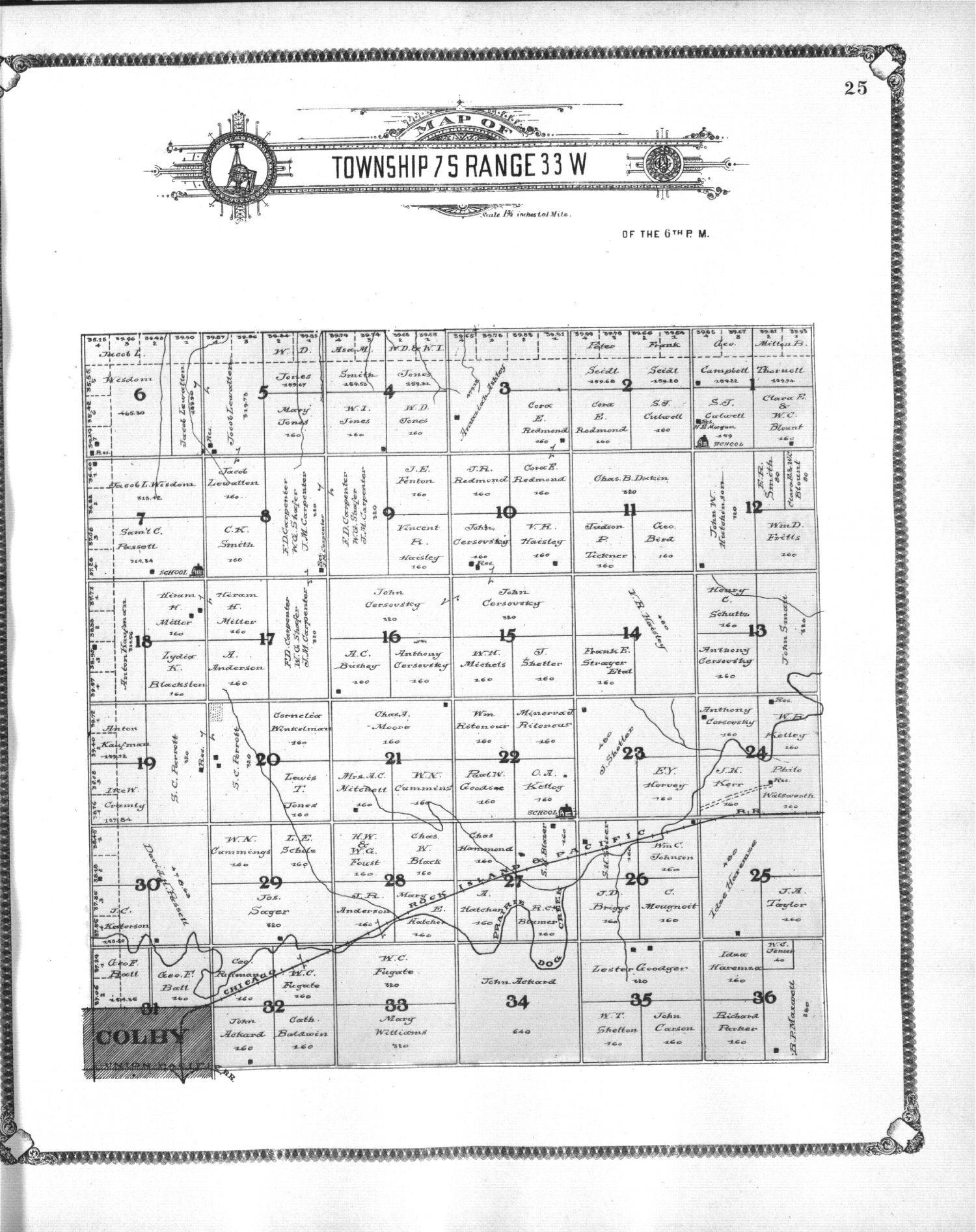 Standard atlas of Thomas County, Kansas - 25