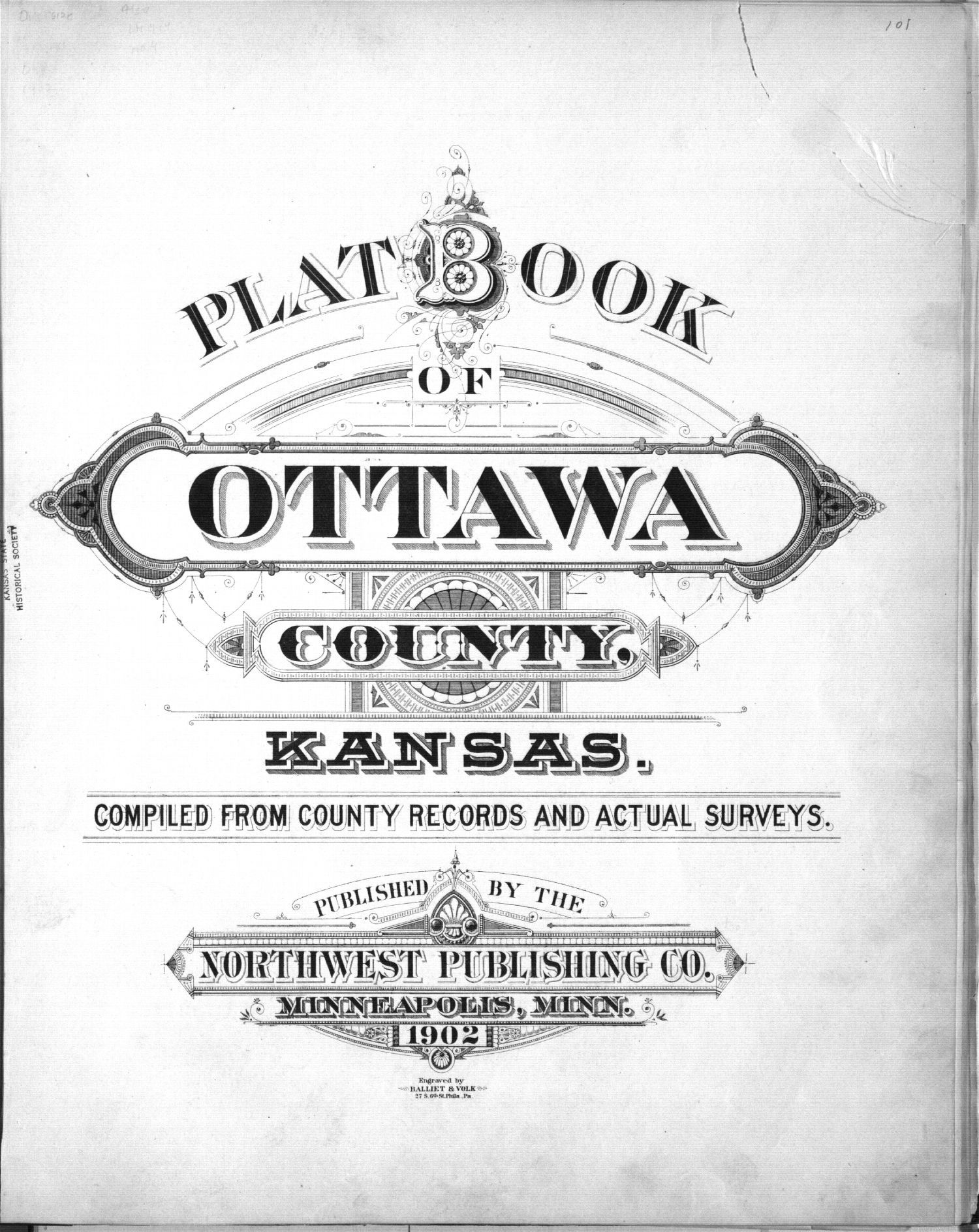 Plat book of Ottawa County, Kansas - Title Page