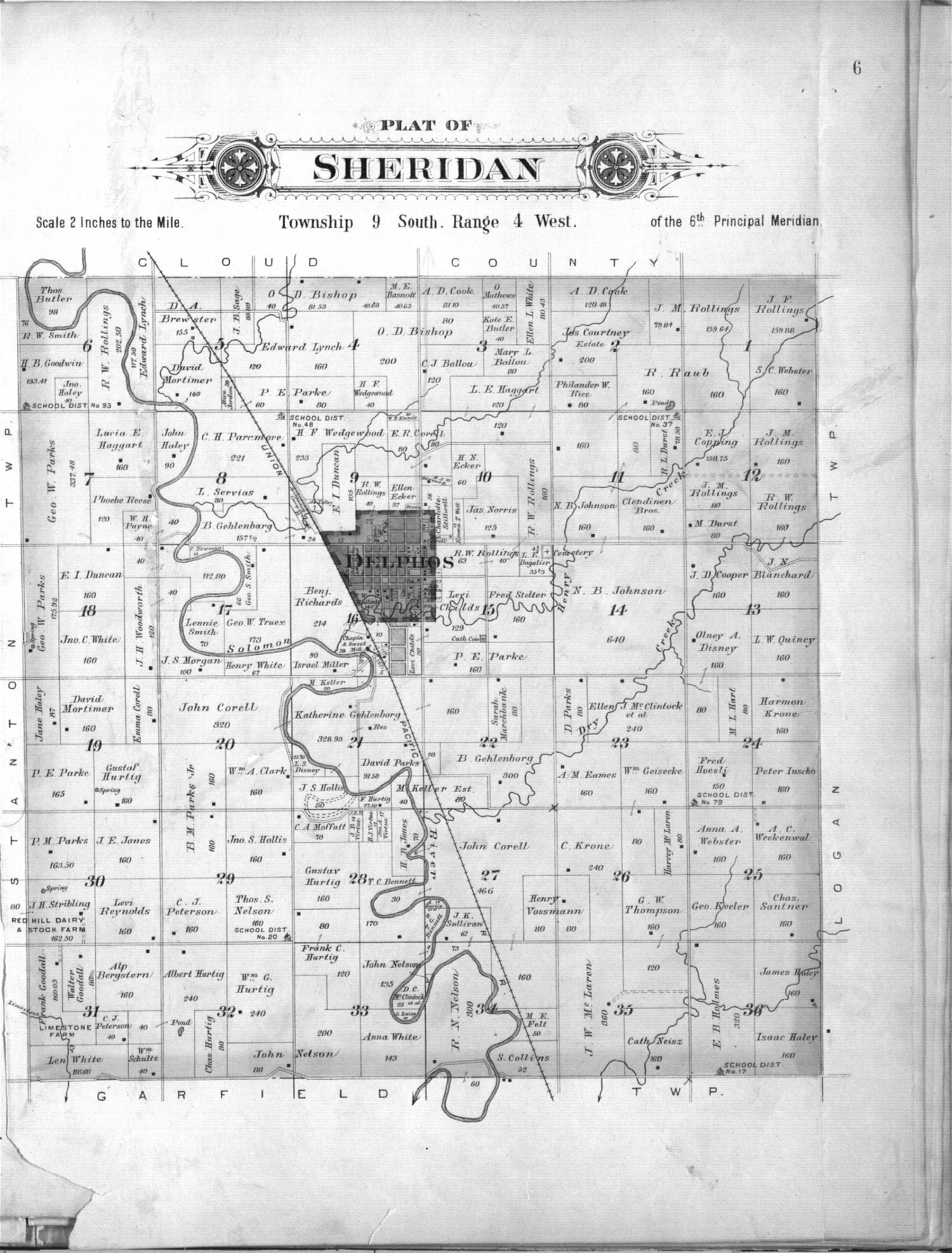 Plat book of Ottawa County, Kansas - 6